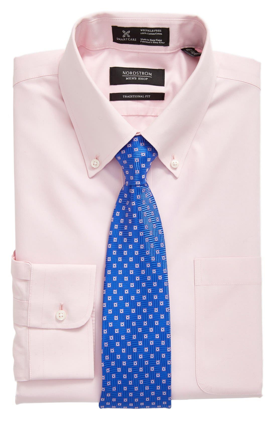 Smartcare<sup>™</sup> Traditional Fit Pinpoint Dress Shirt,                             Alternate thumbnail 86, color,