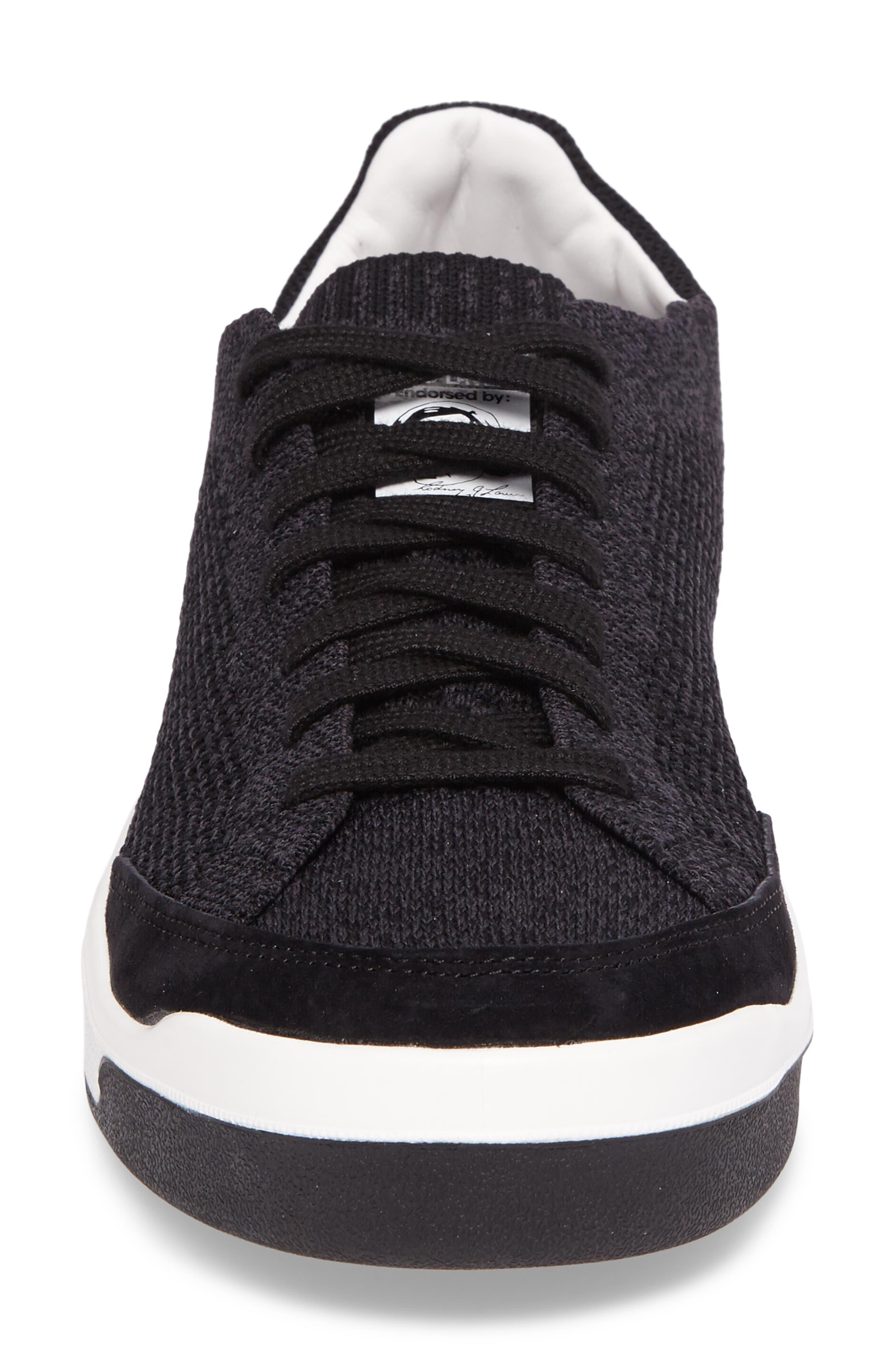 Rod Laver Super Primeknit Sneaker,                             Alternate thumbnail 4, color,                             001