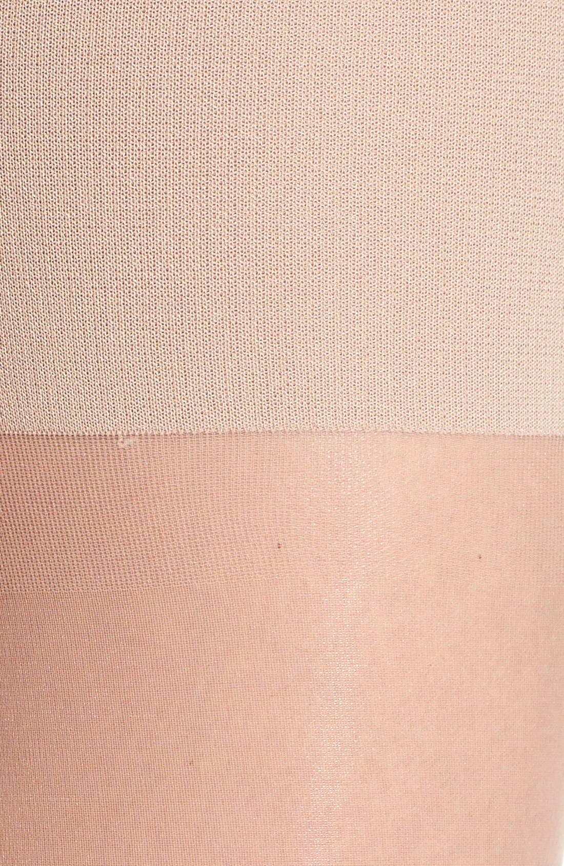 Luxe High Waist Shaping Pantyhose,                             Alternate thumbnail 3, color,                             250
