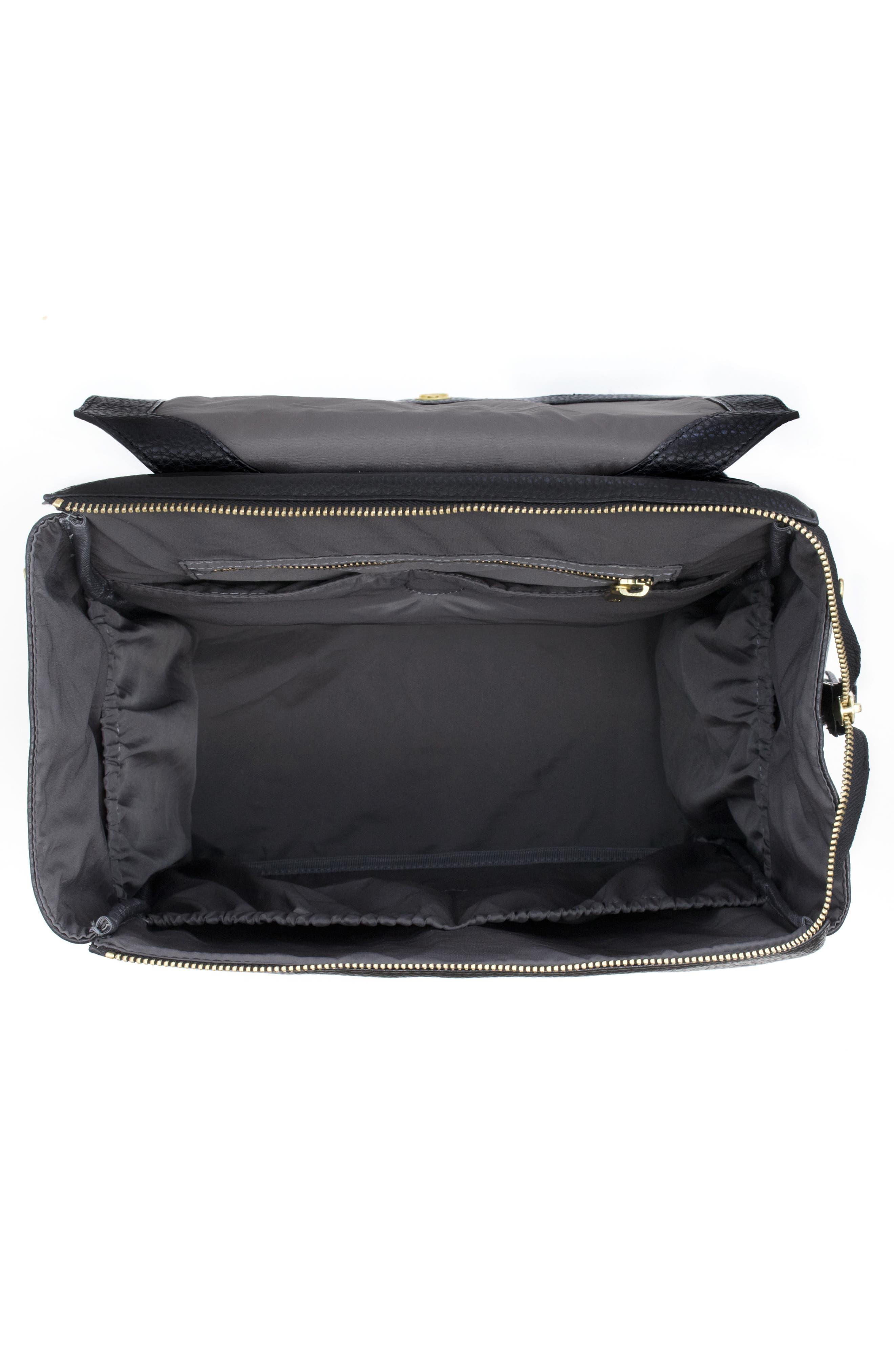 Convertible Diaper Backpack,                             Alternate thumbnail 3, color,                             EBONY