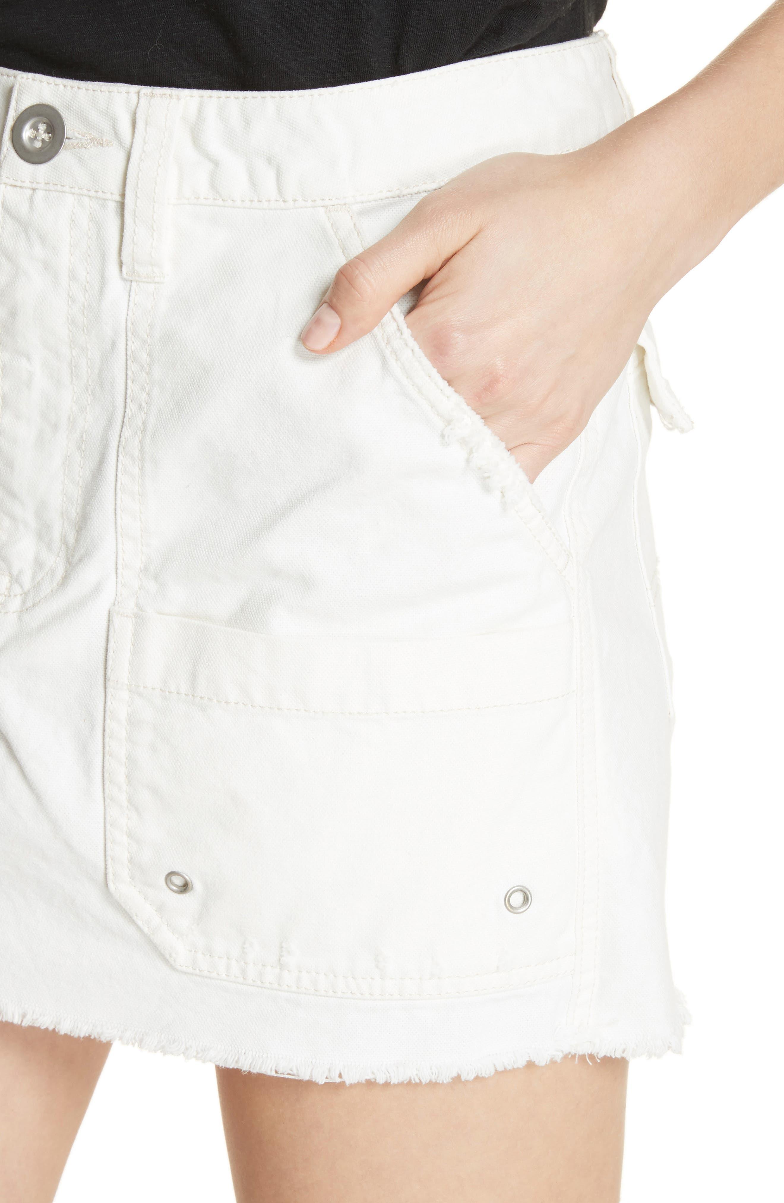 Canvas Miniskirt,                             Alternate thumbnail 12, color,