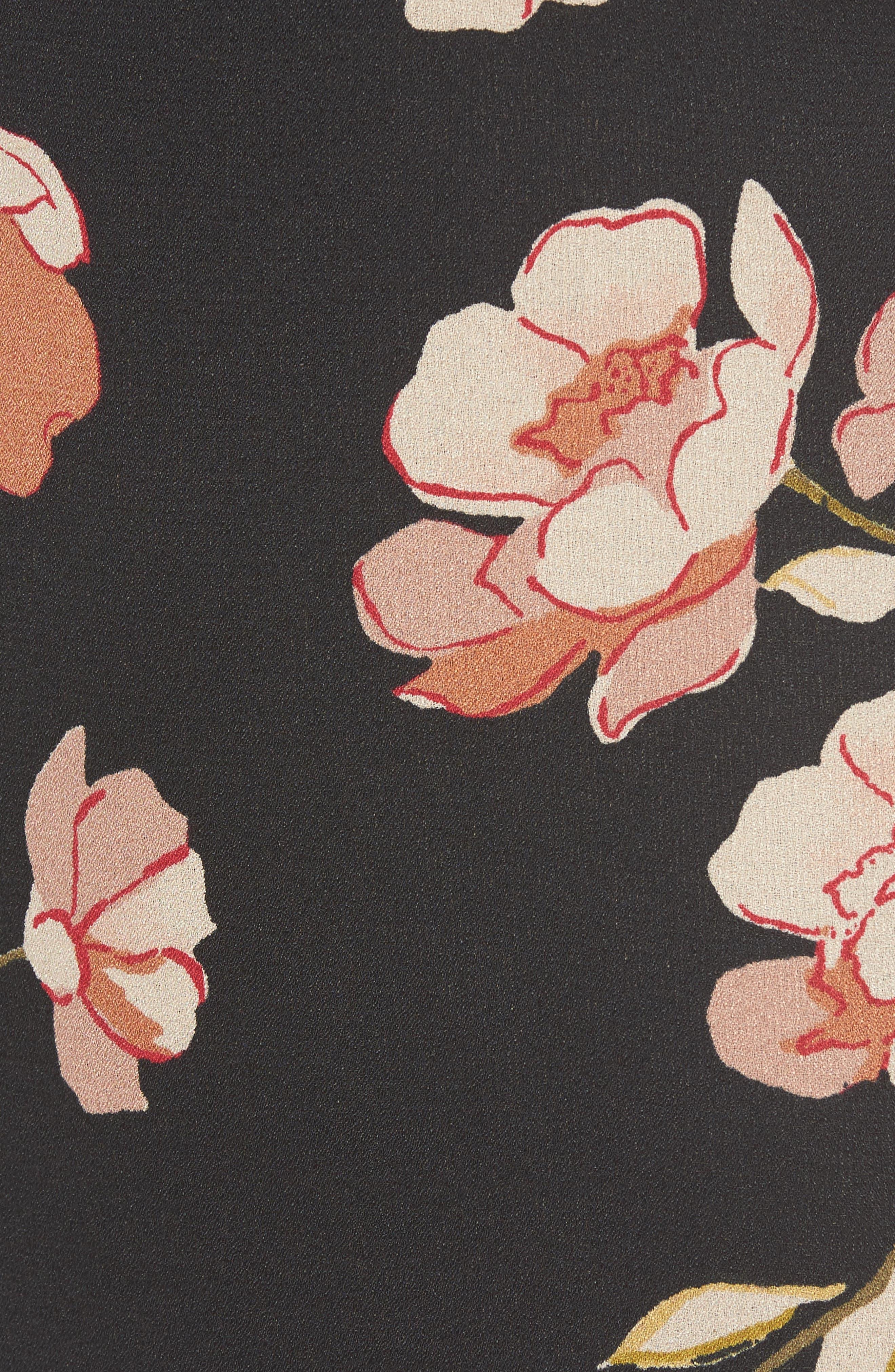 Floral Print Maxi Dress,                             Alternate thumbnail 6, color,                             001