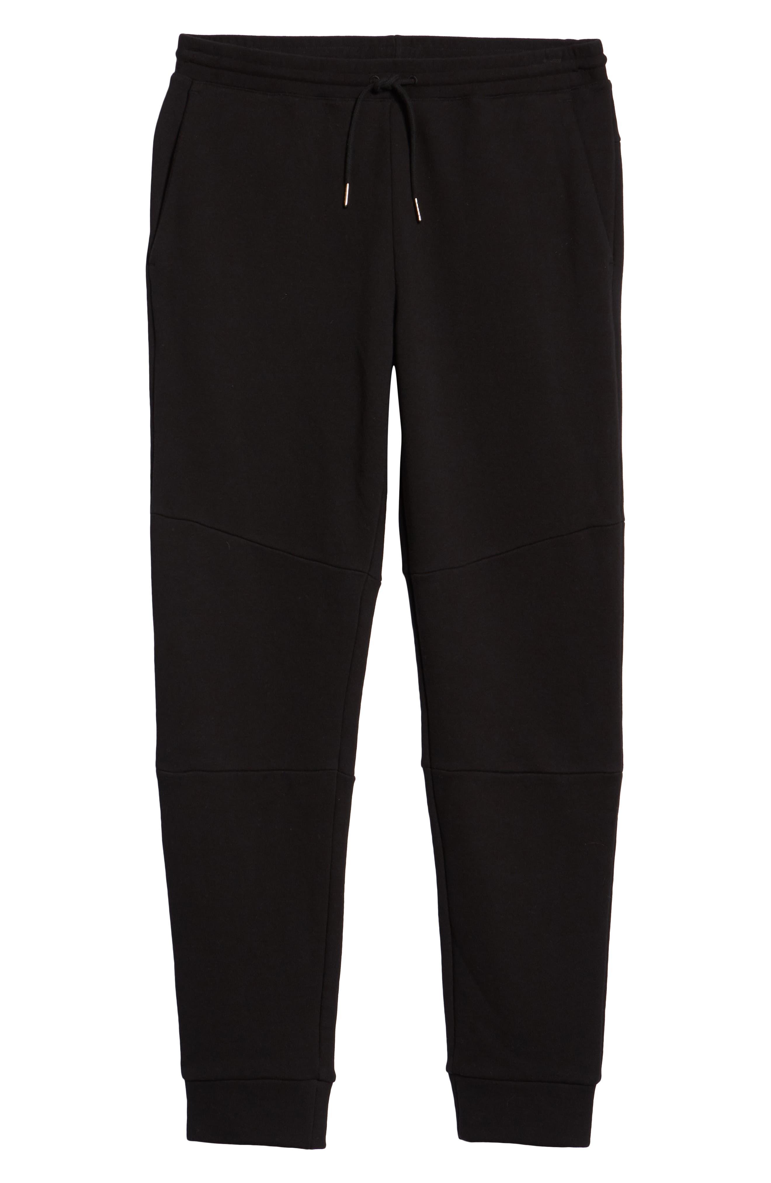 CLUB MONACO,                             Articulated Seam Jogger Pants,                             Alternate thumbnail 6, color,                             001