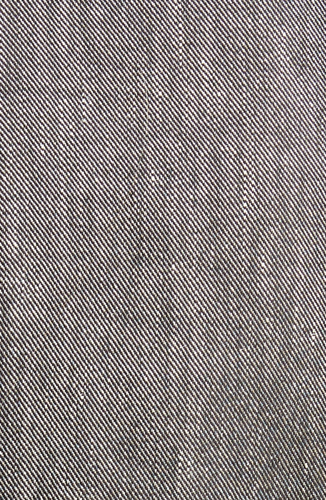 Linen Blend One-Button Suit Jacket,                             Alternate thumbnail 6, color,                             001