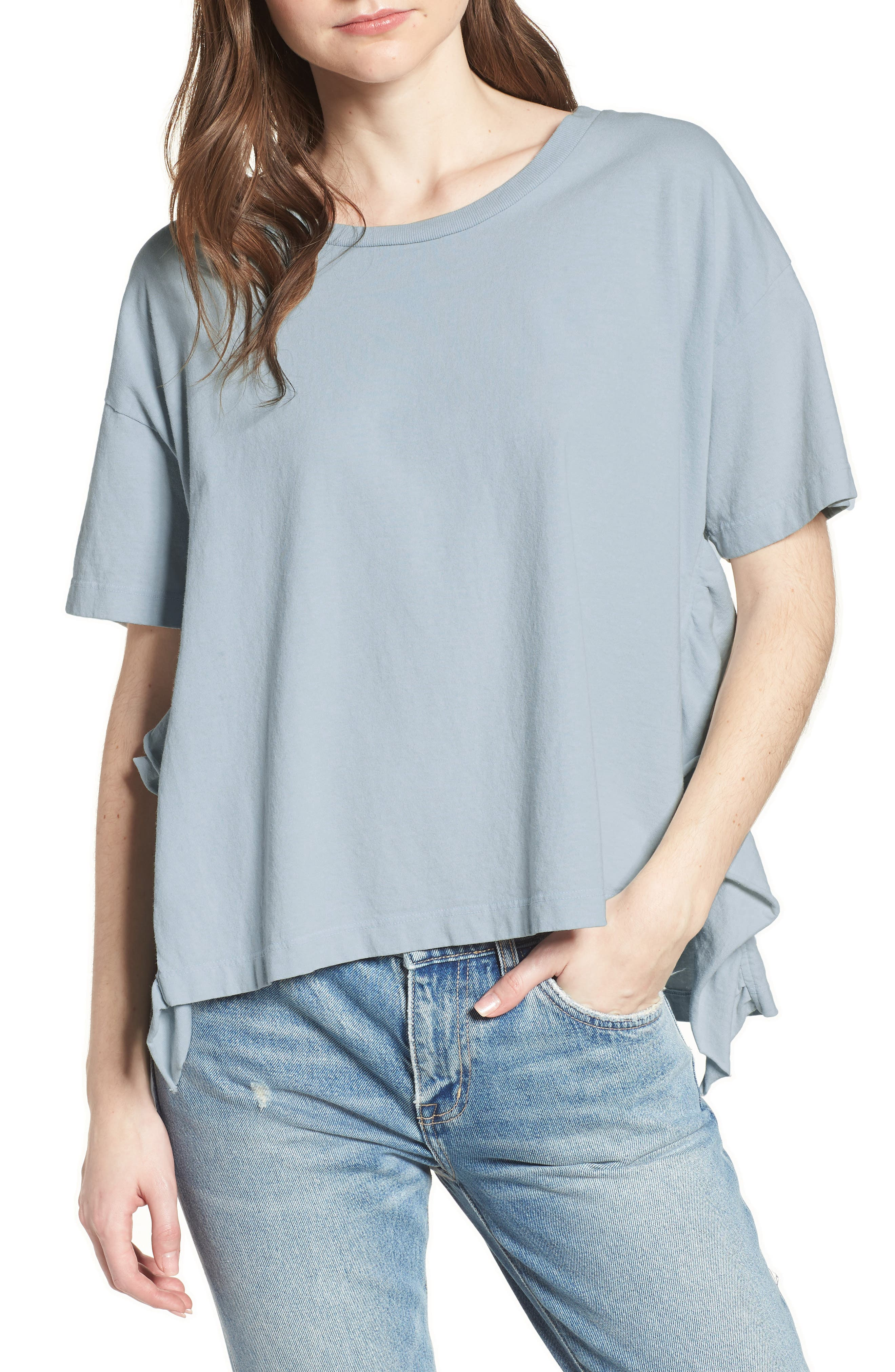The Side Slit Ruffle Tee,                         Main,                         color, 459