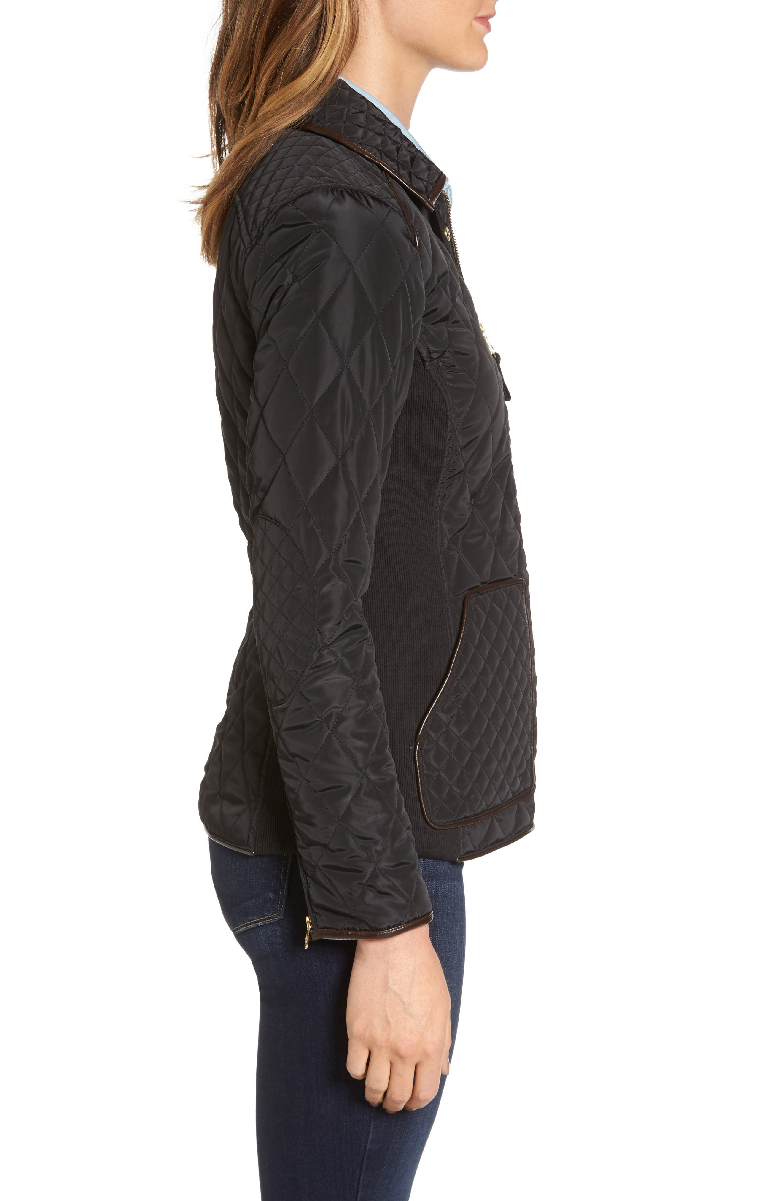 Warm Welcome Quilted Jacket,                             Alternate thumbnail 3, color,                             001
