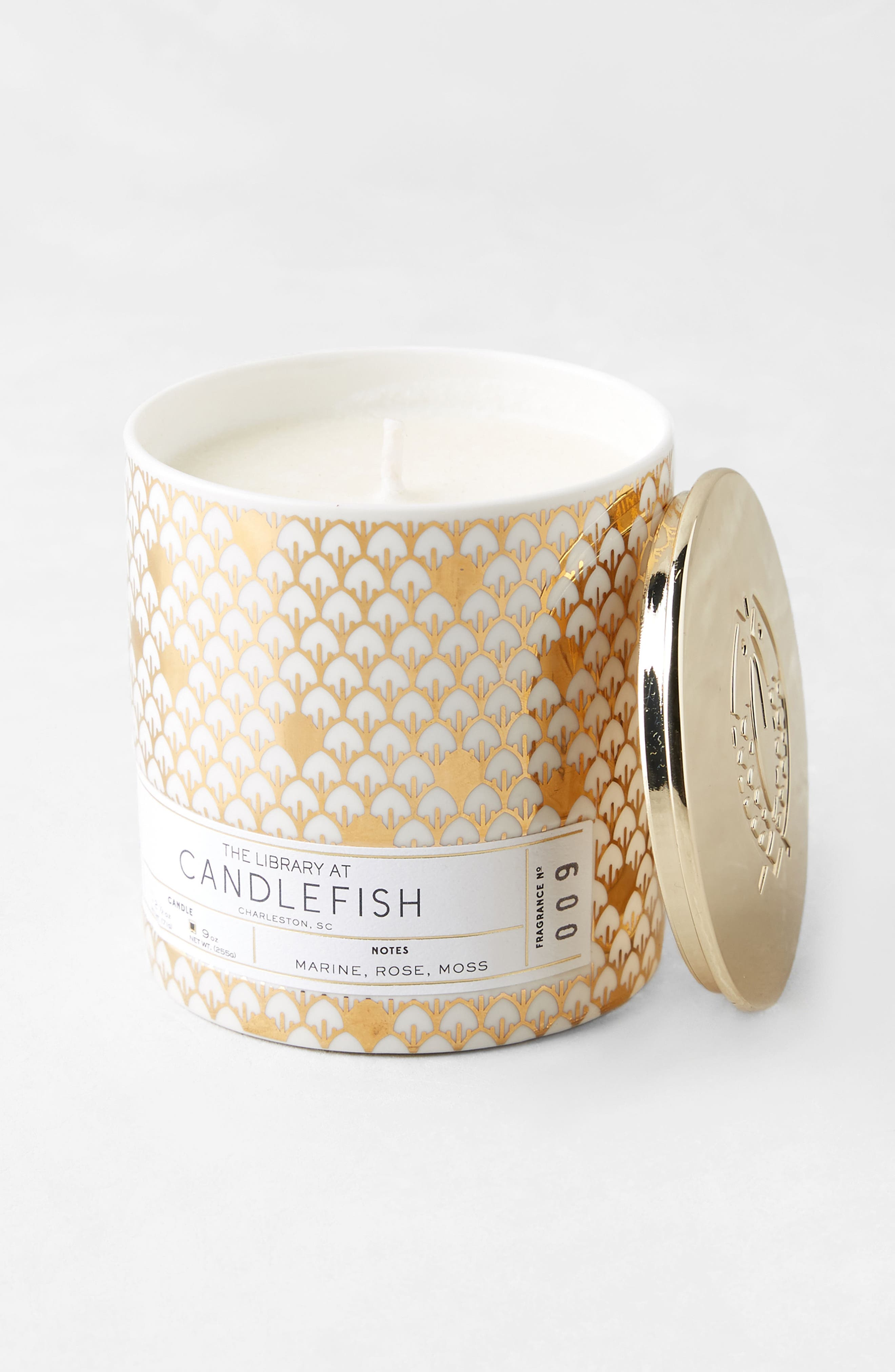Candlefish Ceramic Candle,                             Alternate thumbnail 2, color,                             100