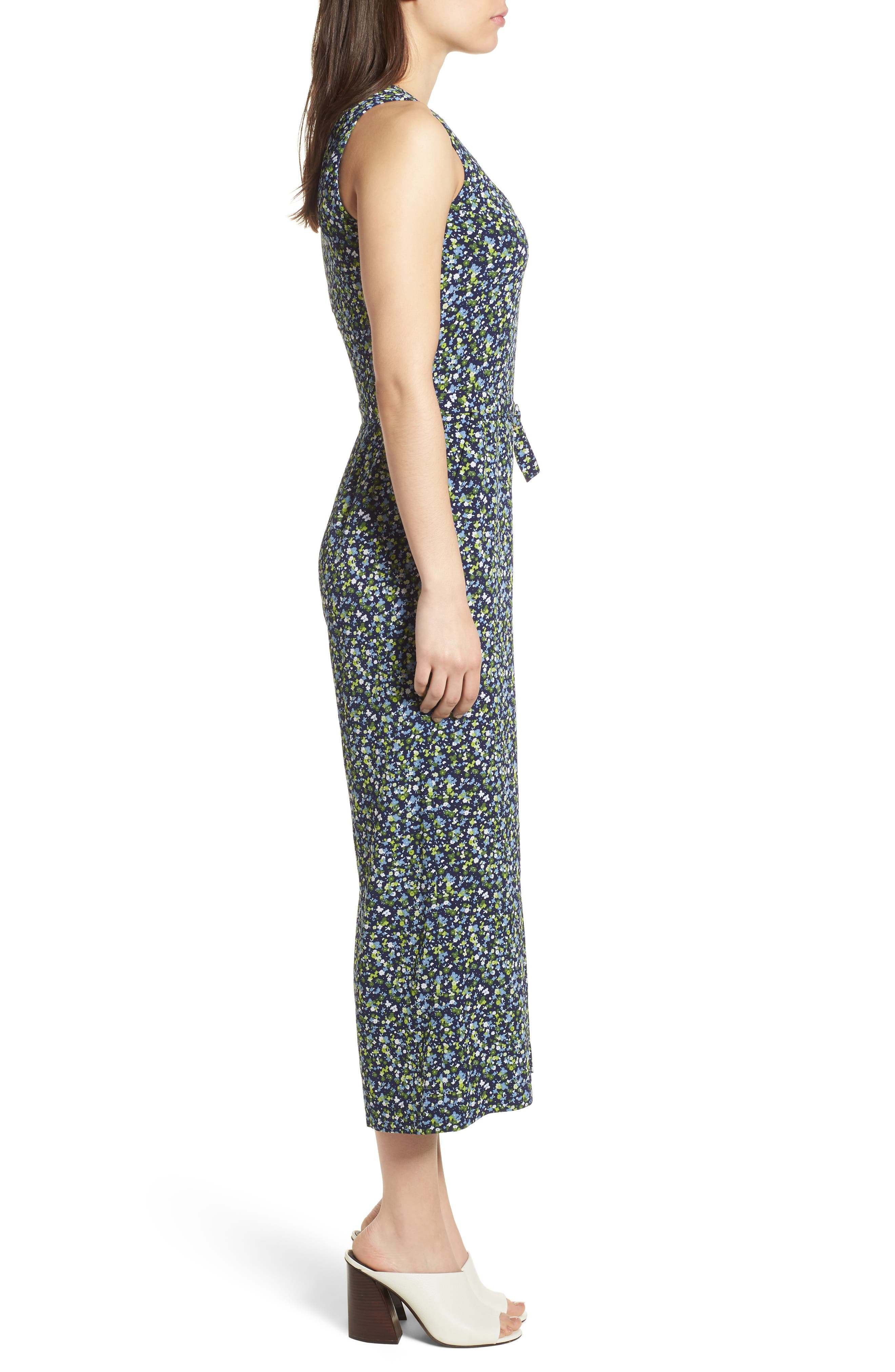 Wildflower Print Jumpsuit,                             Alternate thumbnail 3, color,                             362