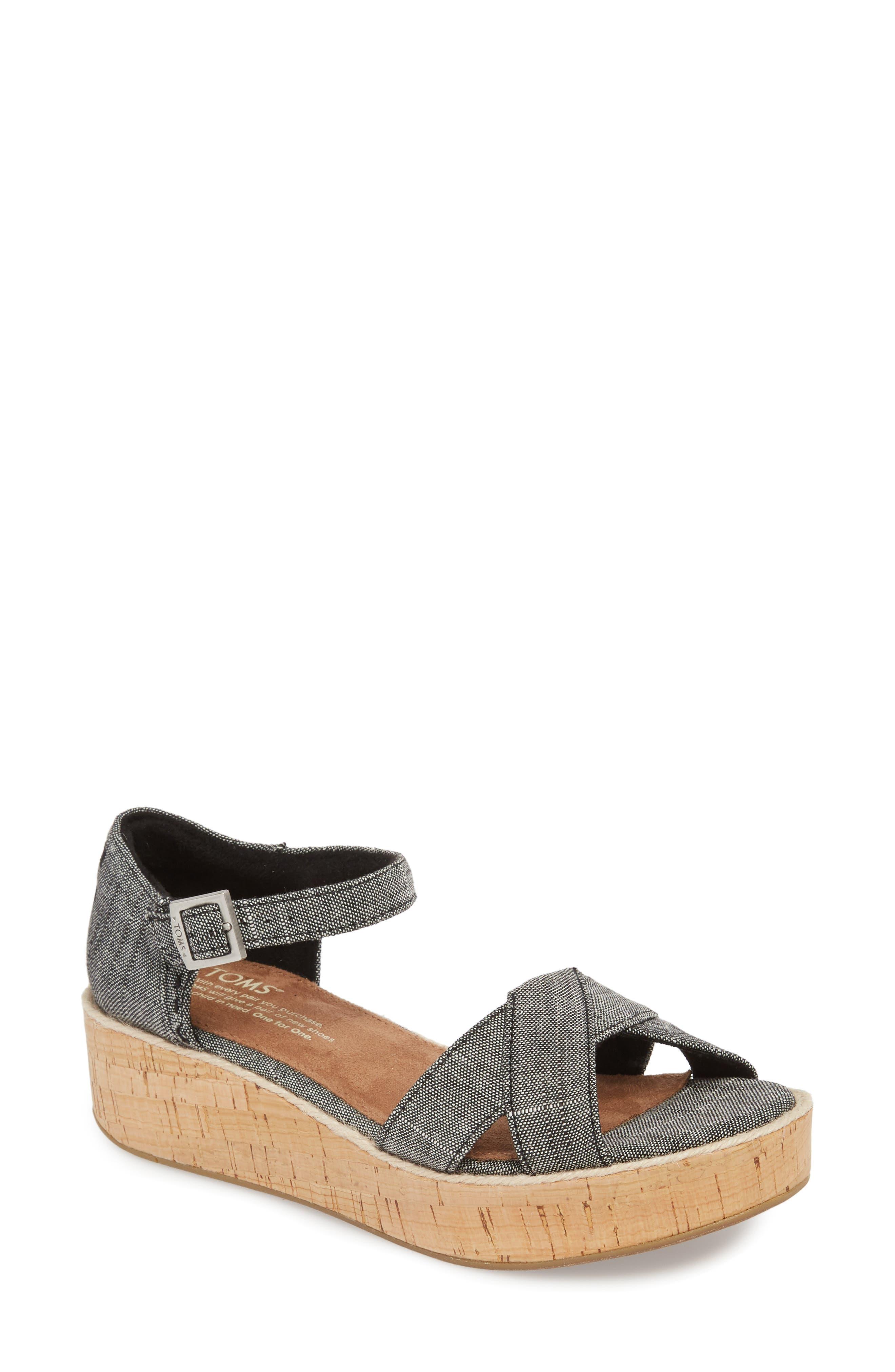 Harper Platform Sandal,                         Main,                         color, 001