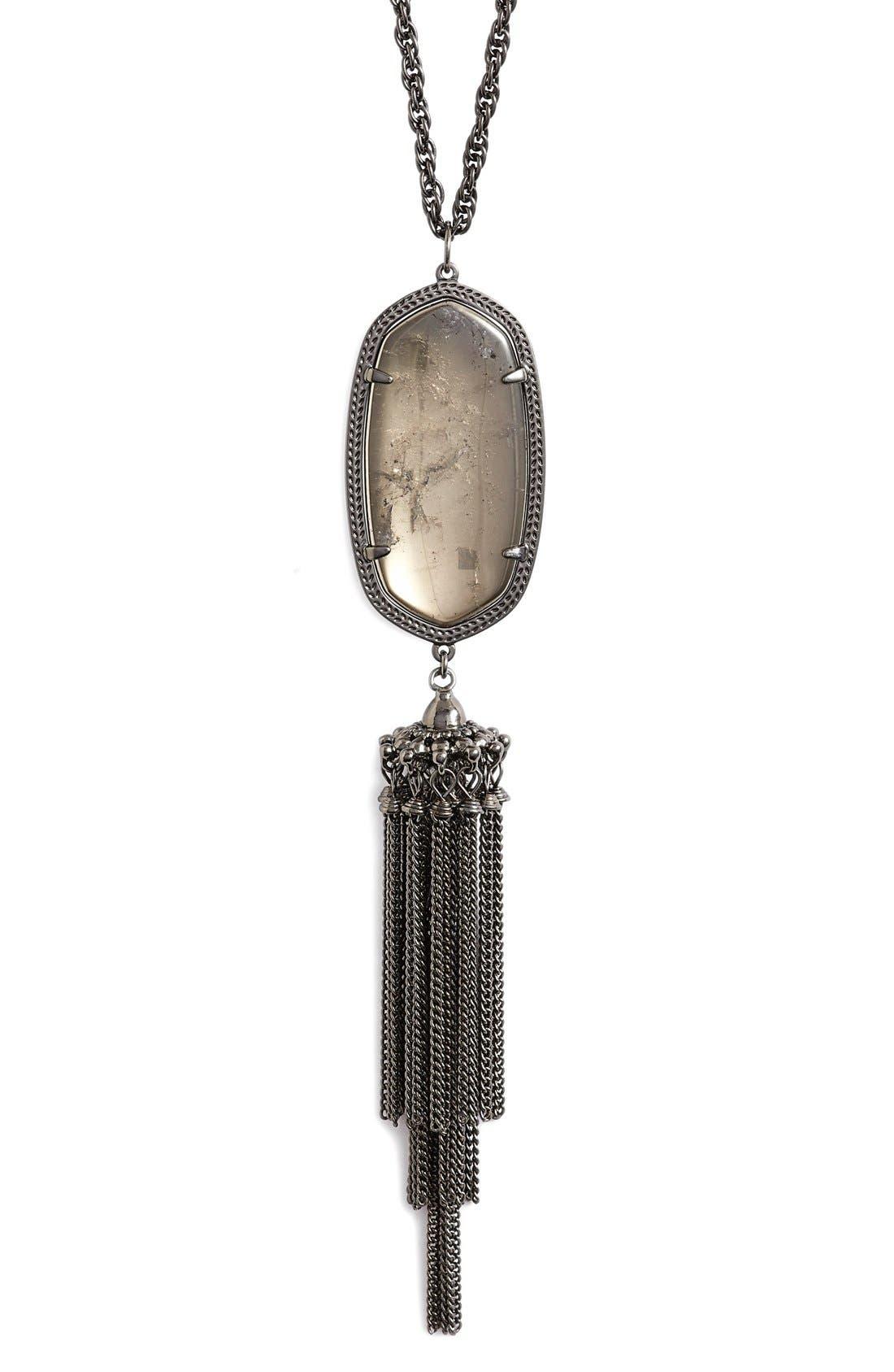 'Rayne' Tassel Pendant Necklace,                             Alternate thumbnail 16, color,