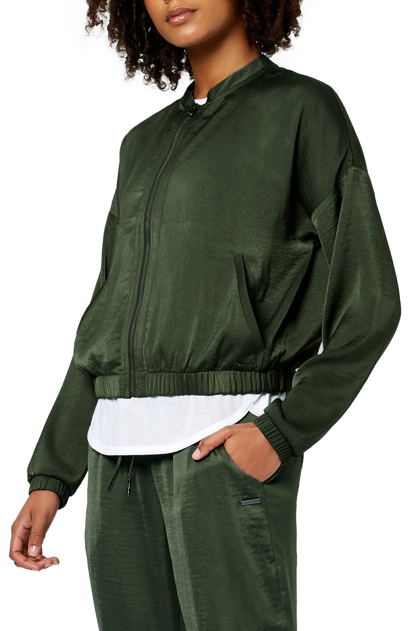 Cargo Luxe Jacket,                         Main,                         color, OLIVE