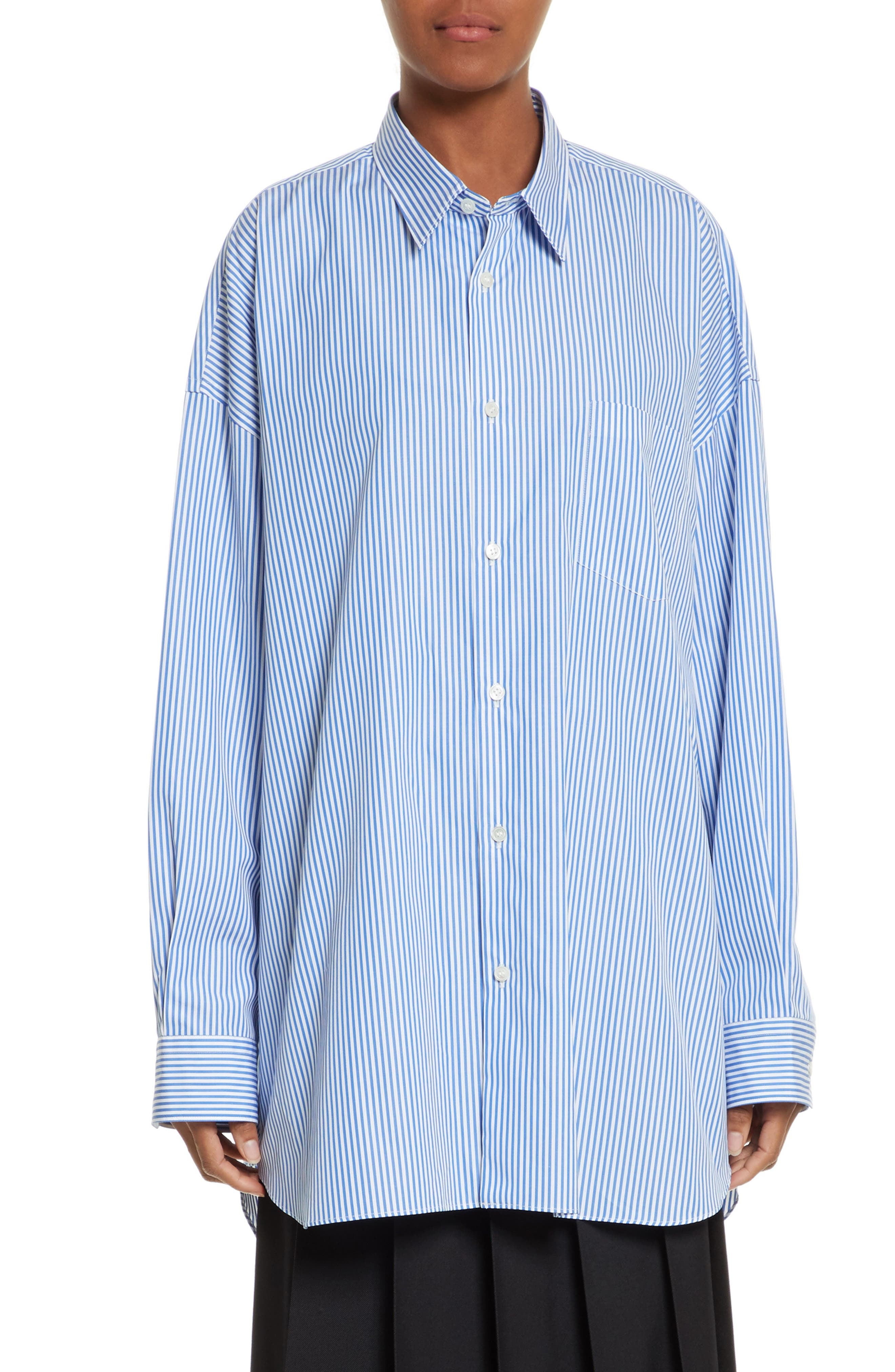 Oversize Button Down Shirt,                         Main,                         color,