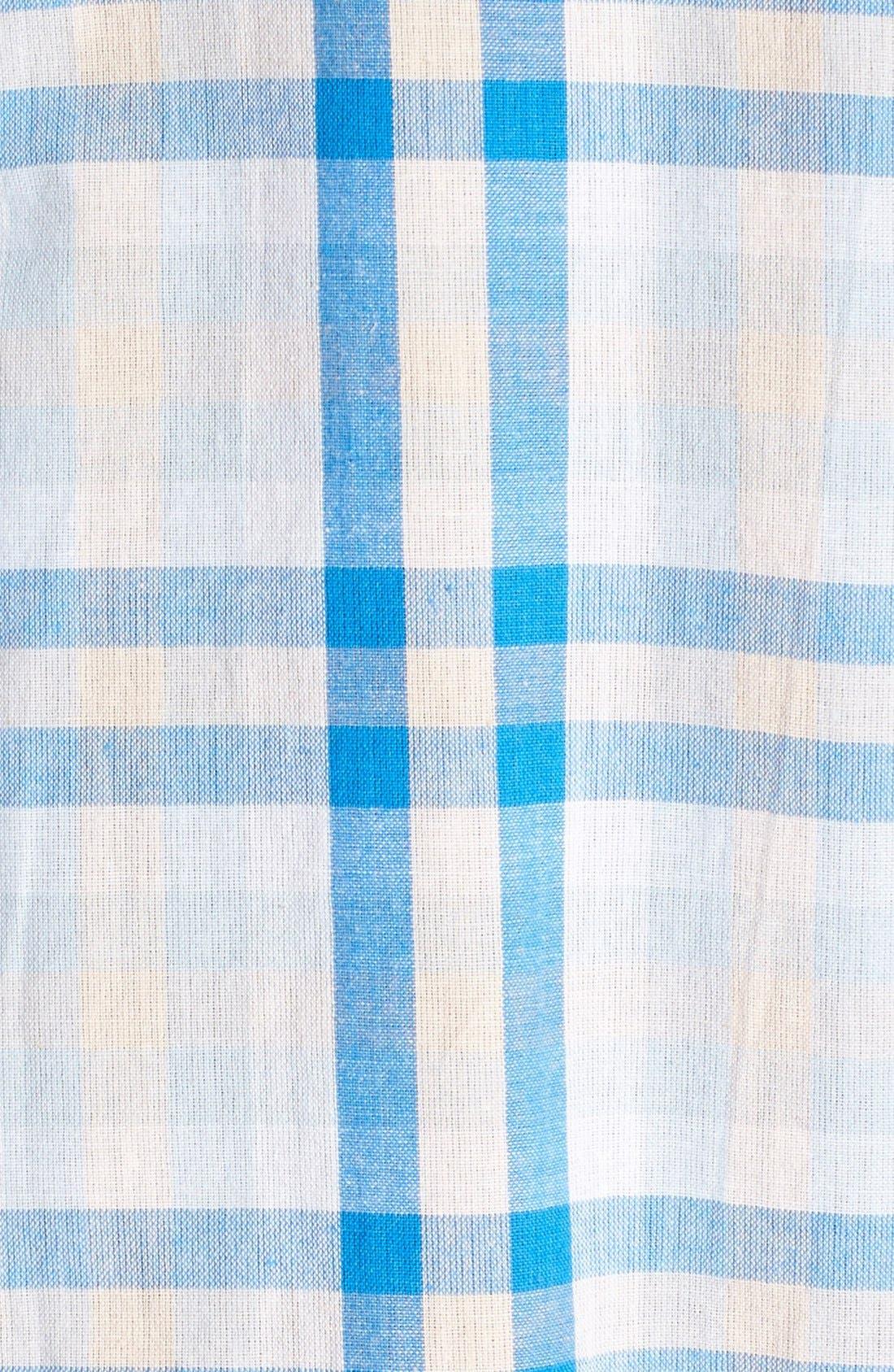 'Cartel' Check Cotton Shirt,                             Alternate thumbnail 4, color,