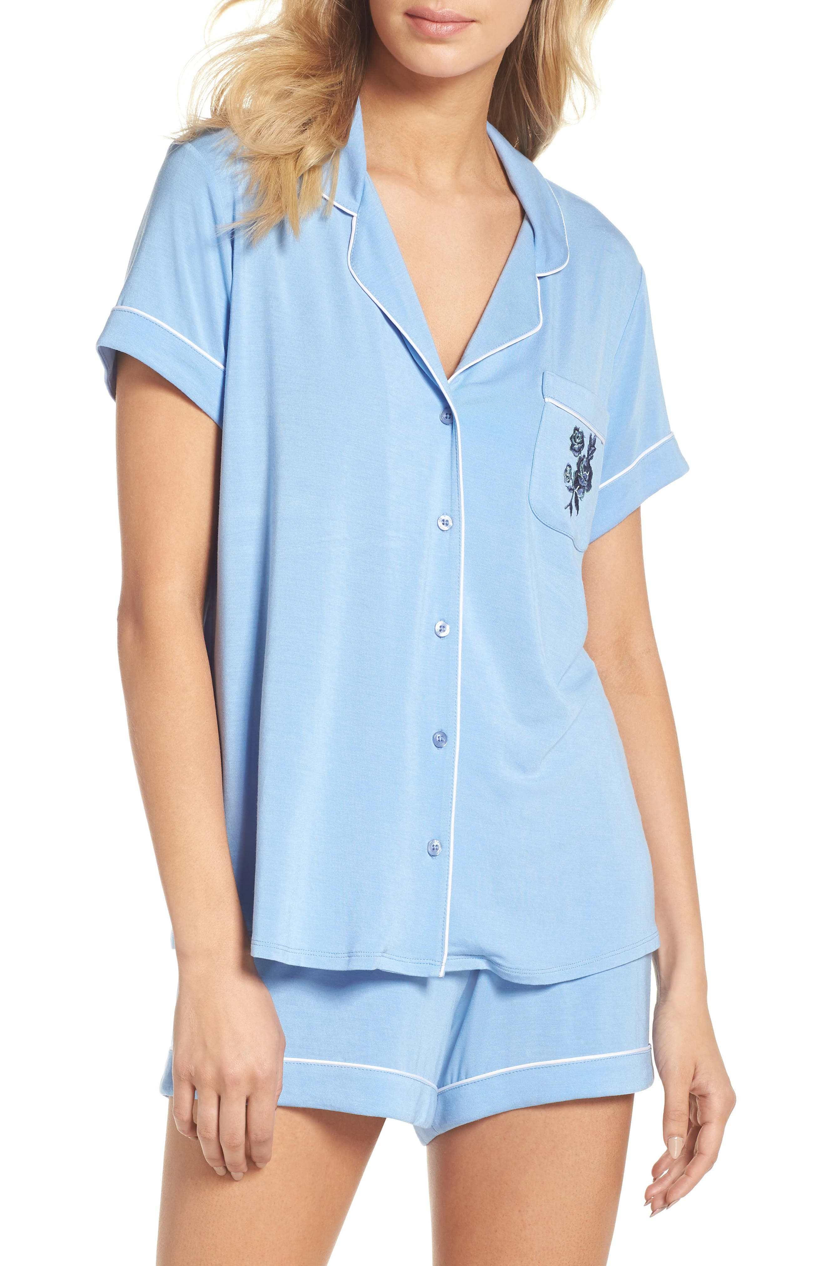 Moonlight Shortie Pajamas,                         Main,                         color, 421
