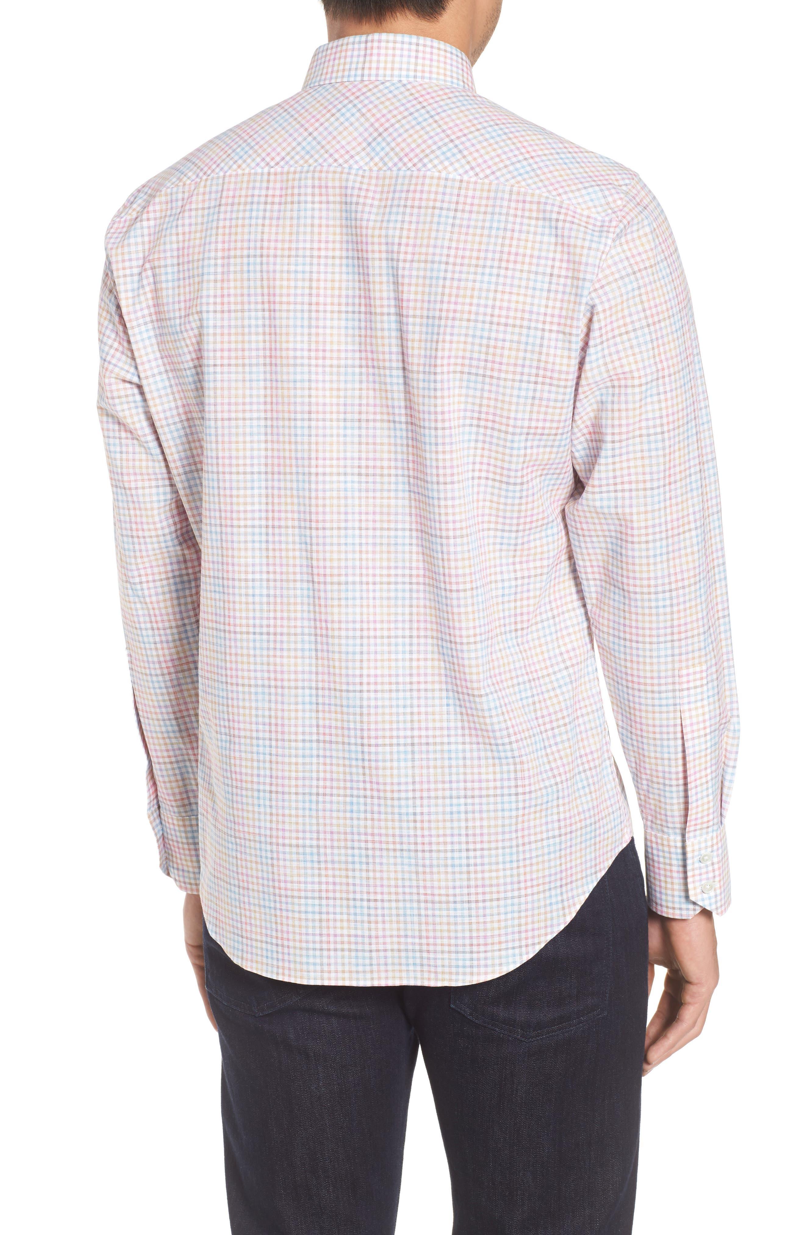 Jigwin Slim Fit Gingham Sport Shirt,                             Alternate thumbnail 2, color,                             100