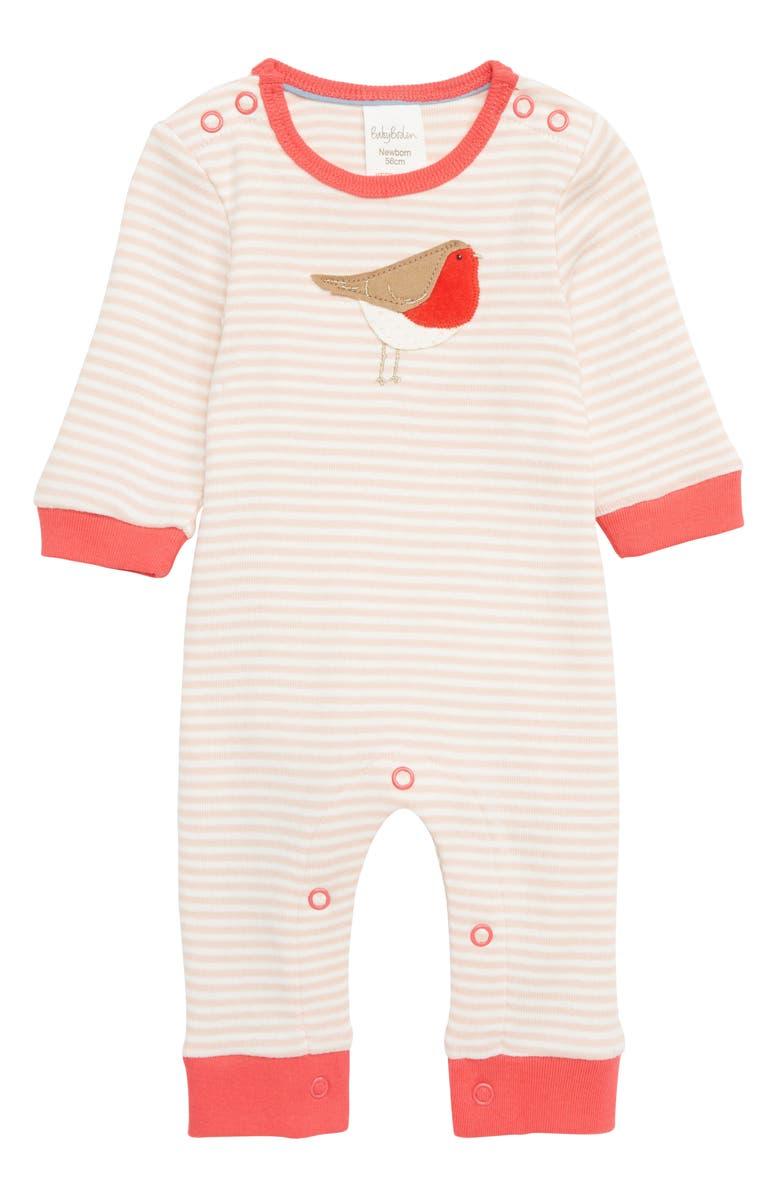 63a8bd2b309f Mini Boden Robin Jersey Romper (Baby)