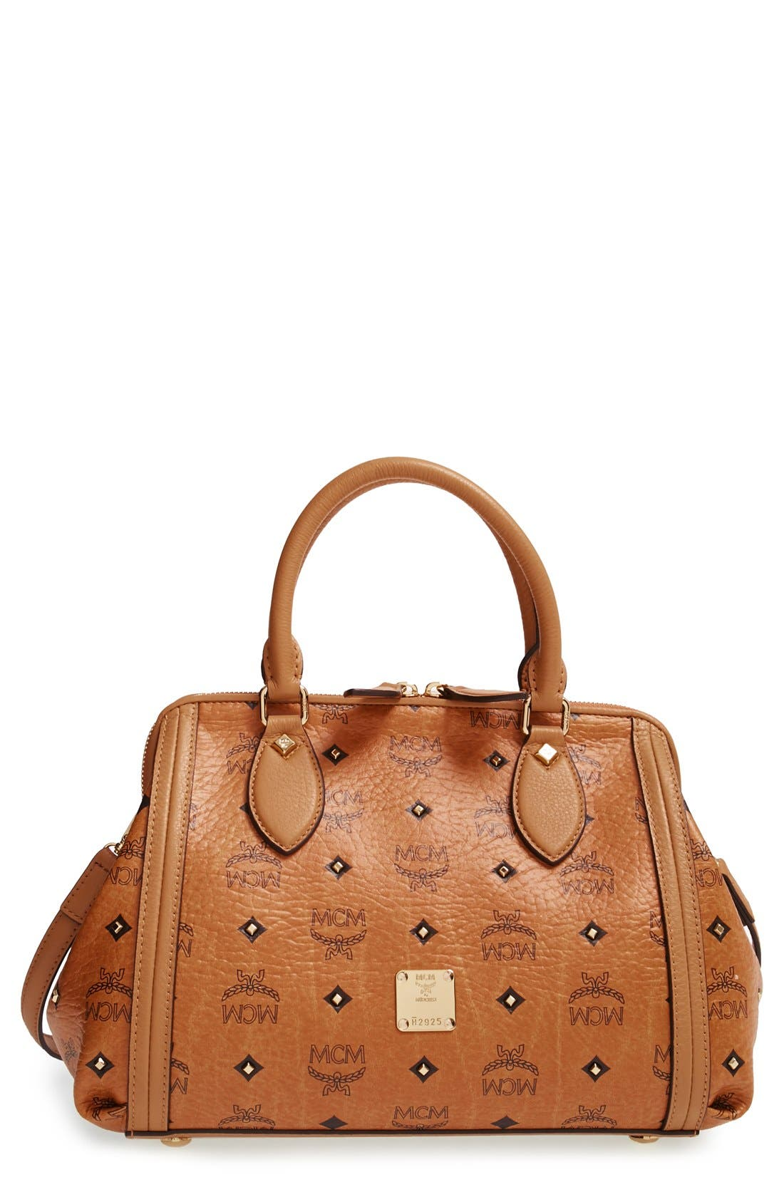 'Small Gold Visetos' Studded Doctor Bag, Main, color, 200
