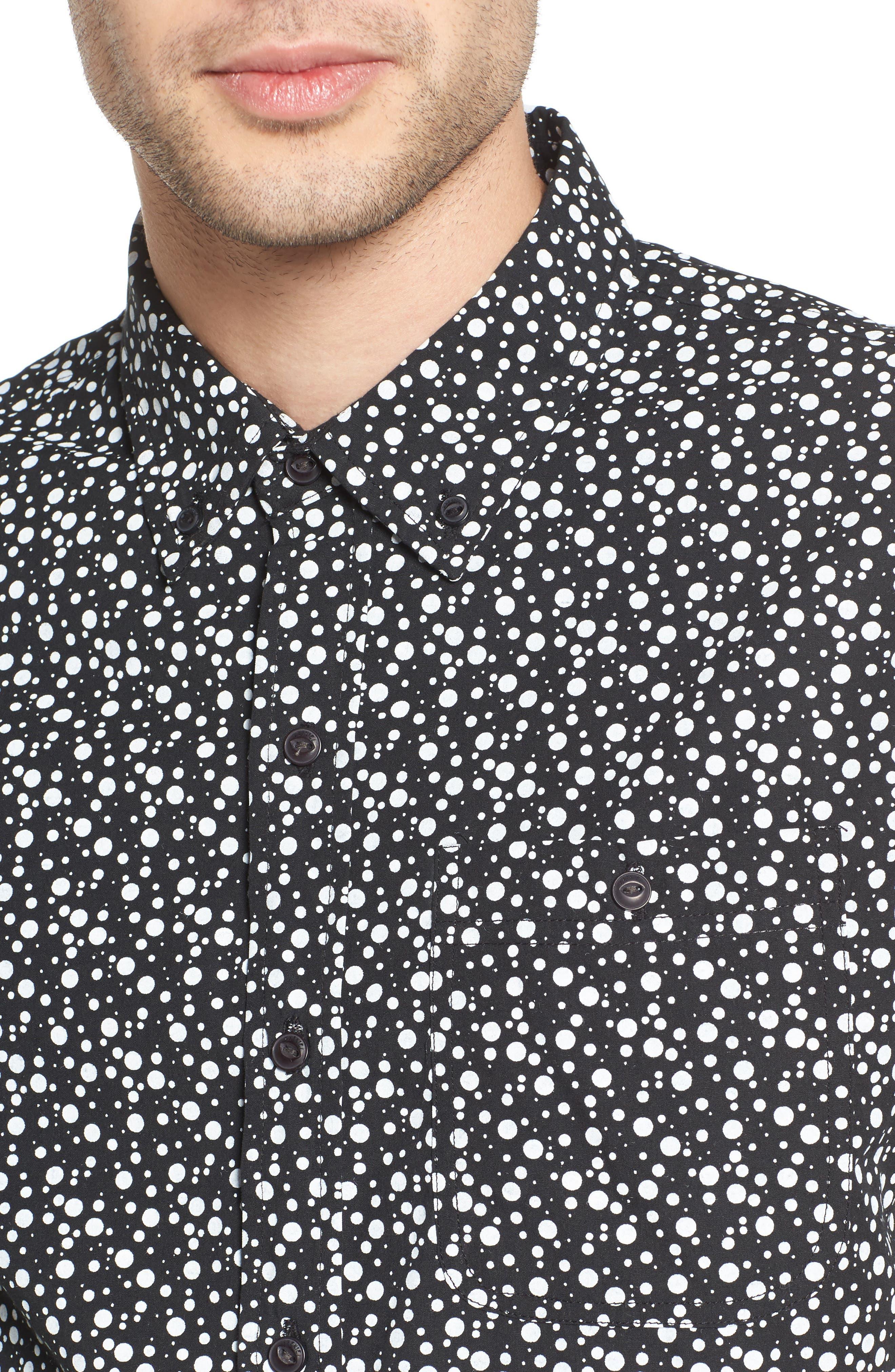 Bubble Print Woven Shirt,                             Alternate thumbnail 4, color,
