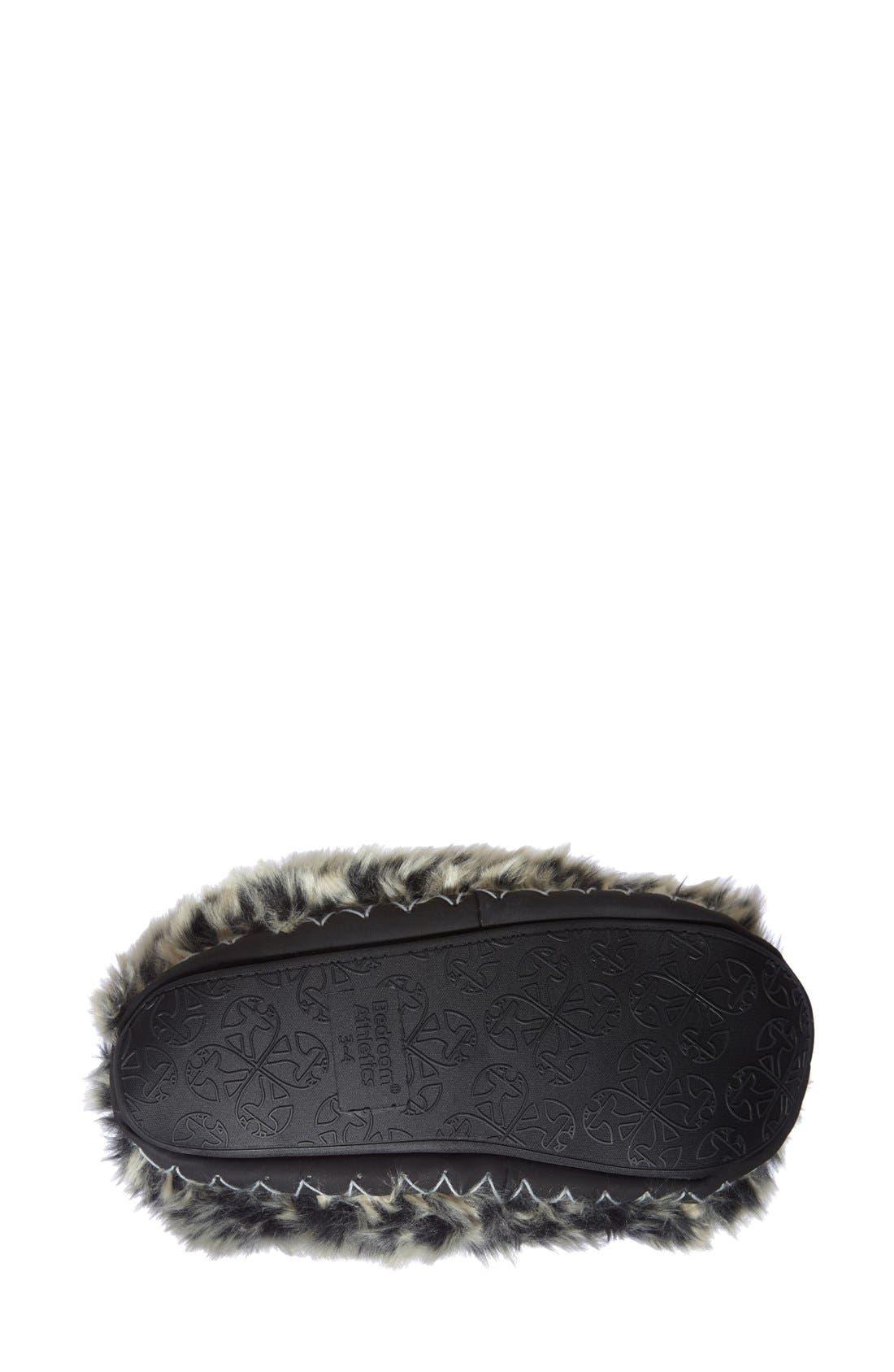 'Cole' Faux Fur Slipper Boot,                             Alternate thumbnail 4, color,                             005