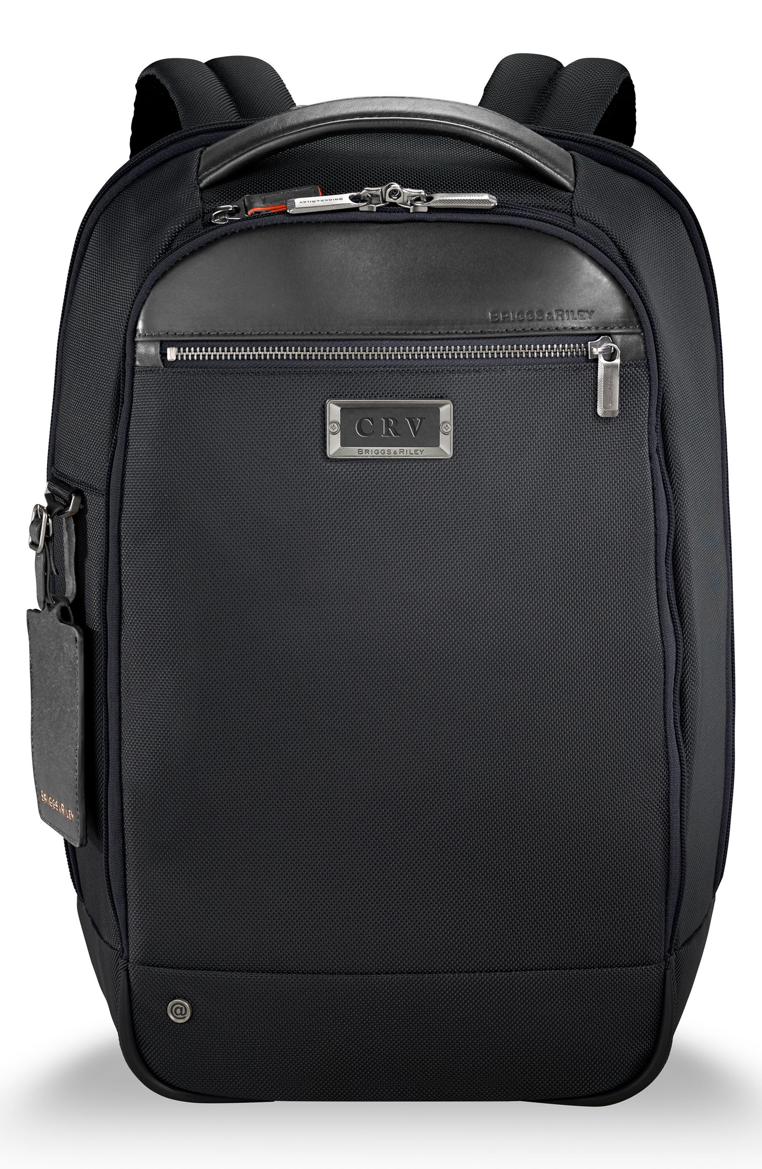 BRIGGS & RILEY @work Medium Slim Backpack, Main, color, NO_COLOR