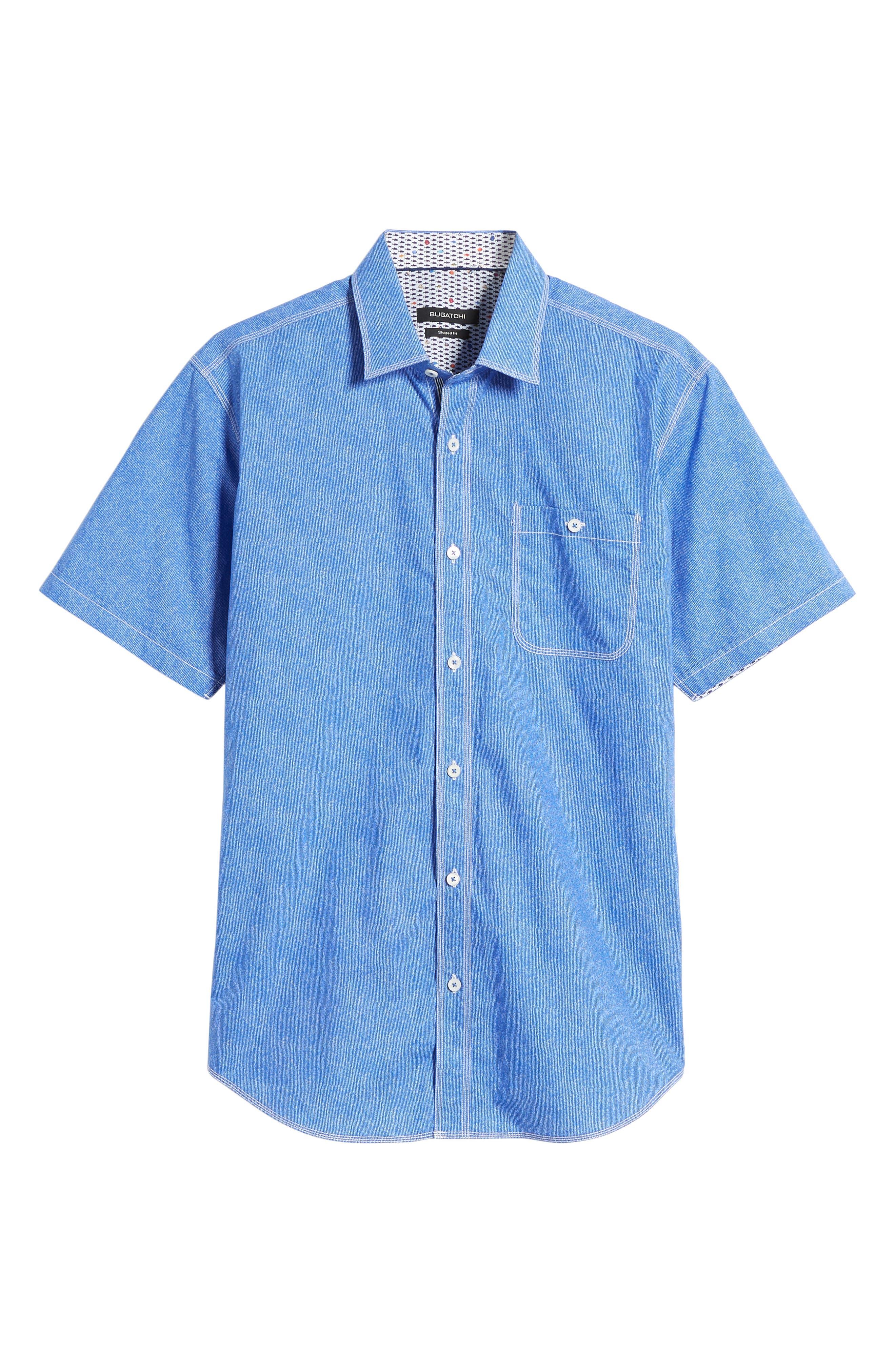 Shaped Fit Sport Shirt,                             Alternate thumbnail 22, color,