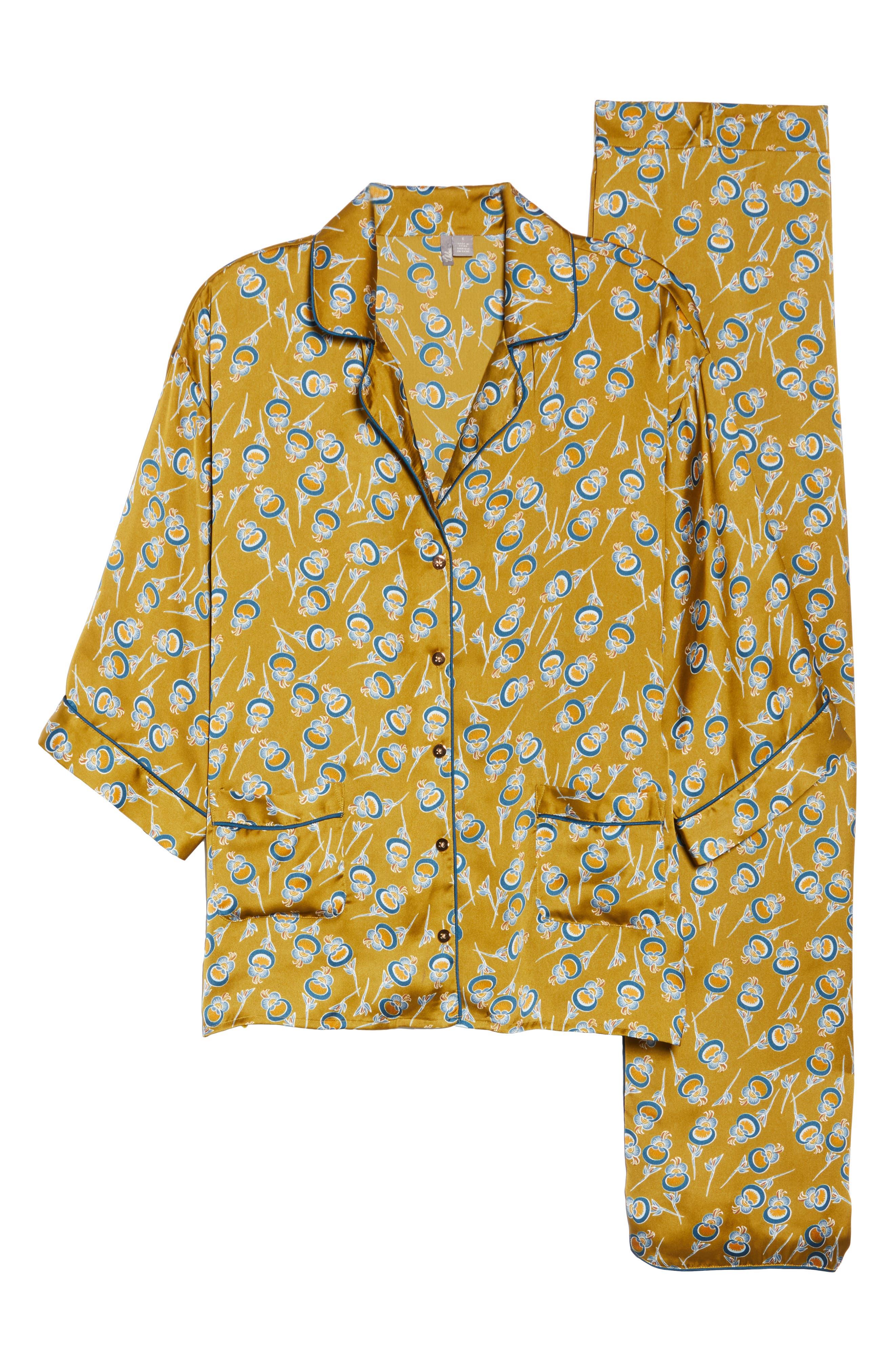 Ella Pajamas,                             Alternate thumbnail 6, color,                             OLIVE ESTATE ORIENTAL BLOOM