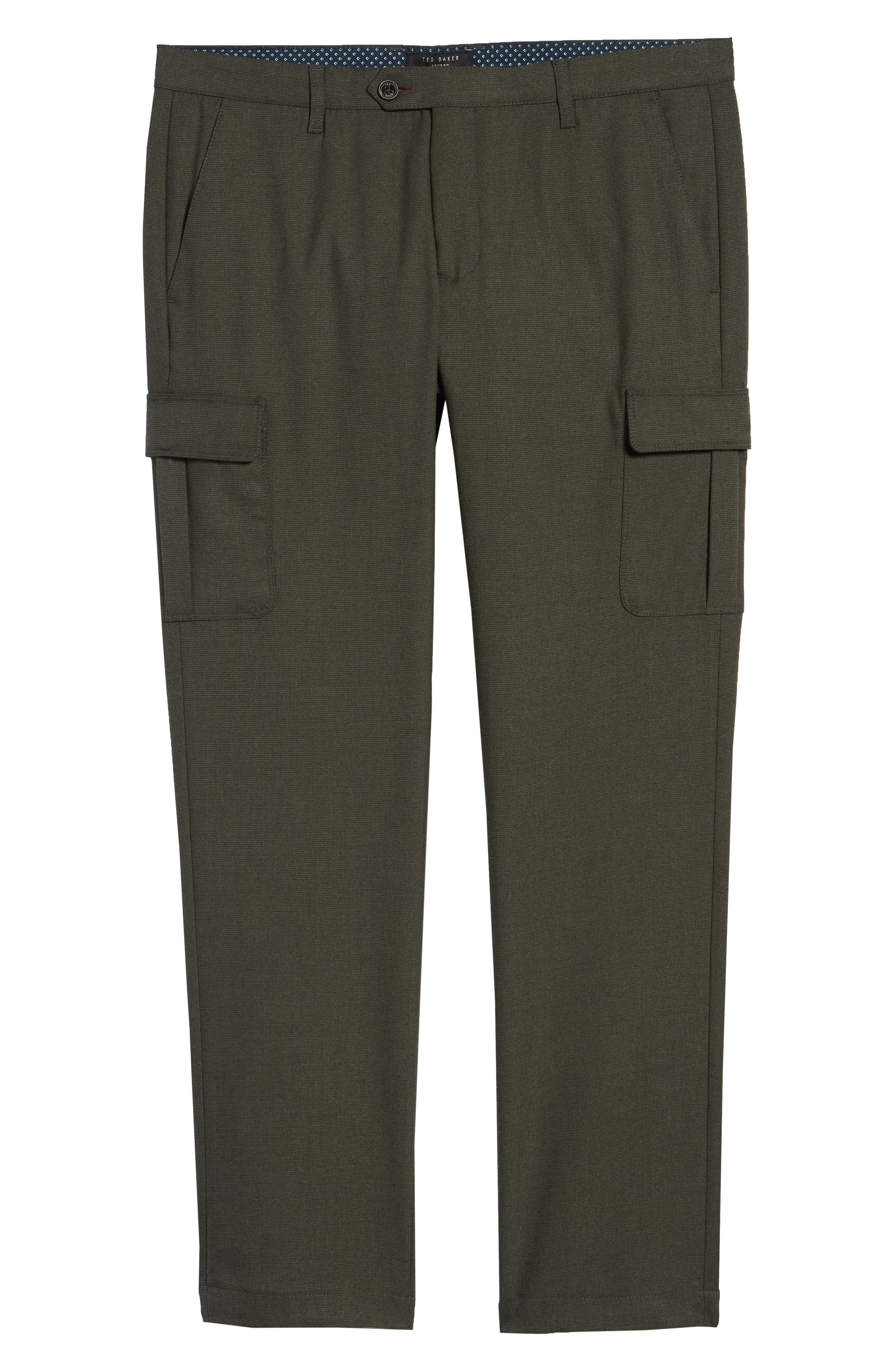 Zakery Slim Fit Utility Cargo Trousers,                             Alternate thumbnail 6, color,                             KHAKI