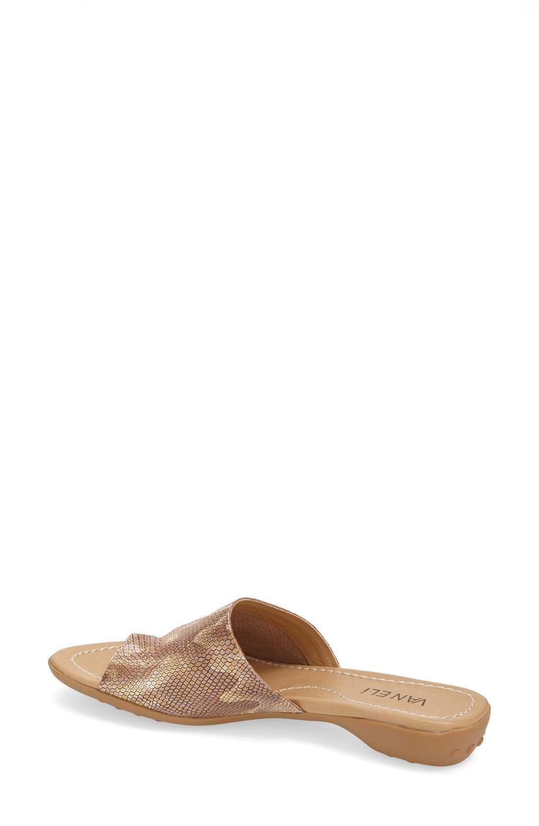'Tallis' Snake Embossed Leather Slide Sandal,                             Alternate thumbnail 16, color,
