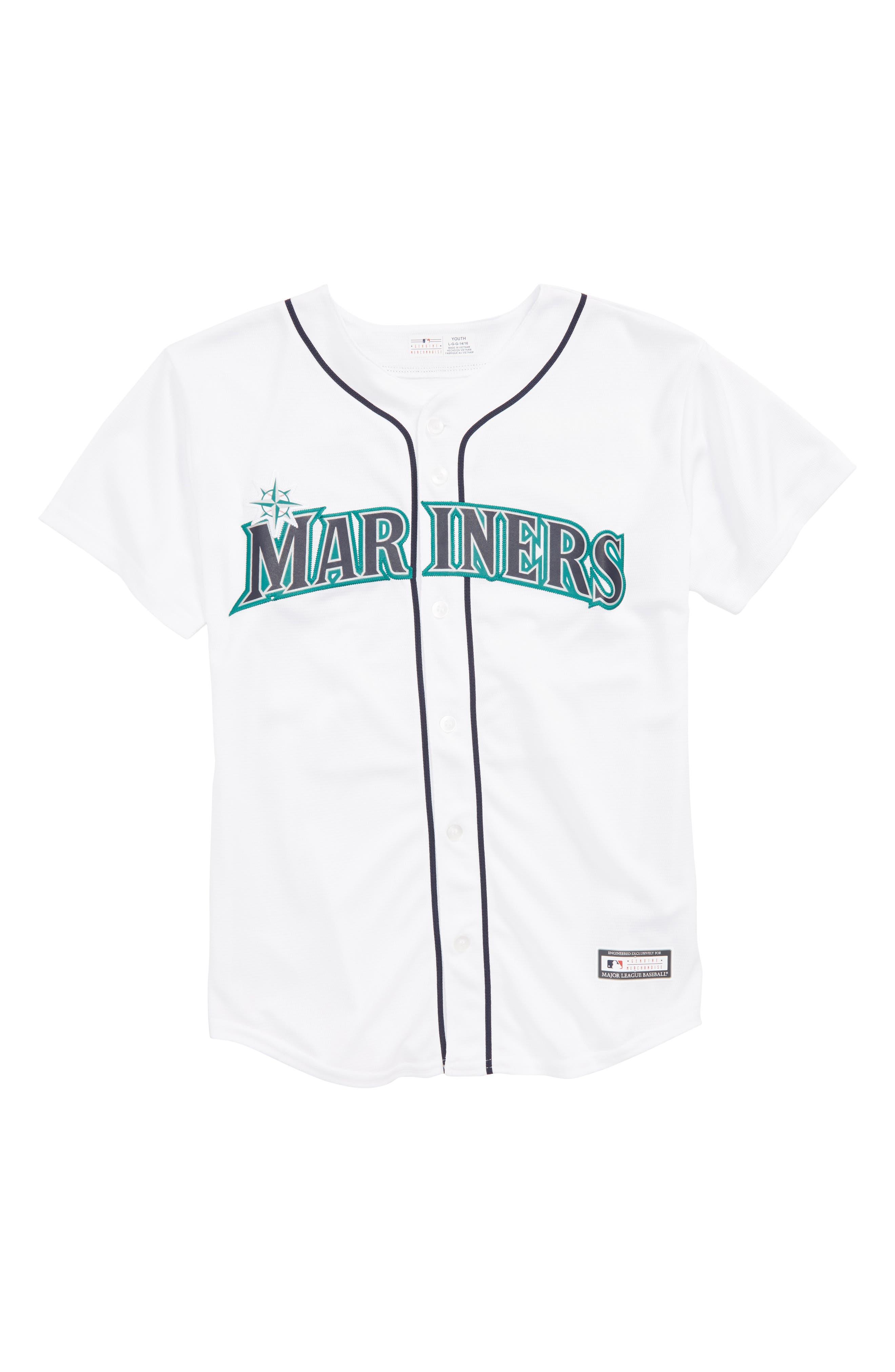 MAJESTIC MLB,                             Seattle Mariners - Robinson Canó Baseball Jersey,                             Main thumbnail 1, color,                             100