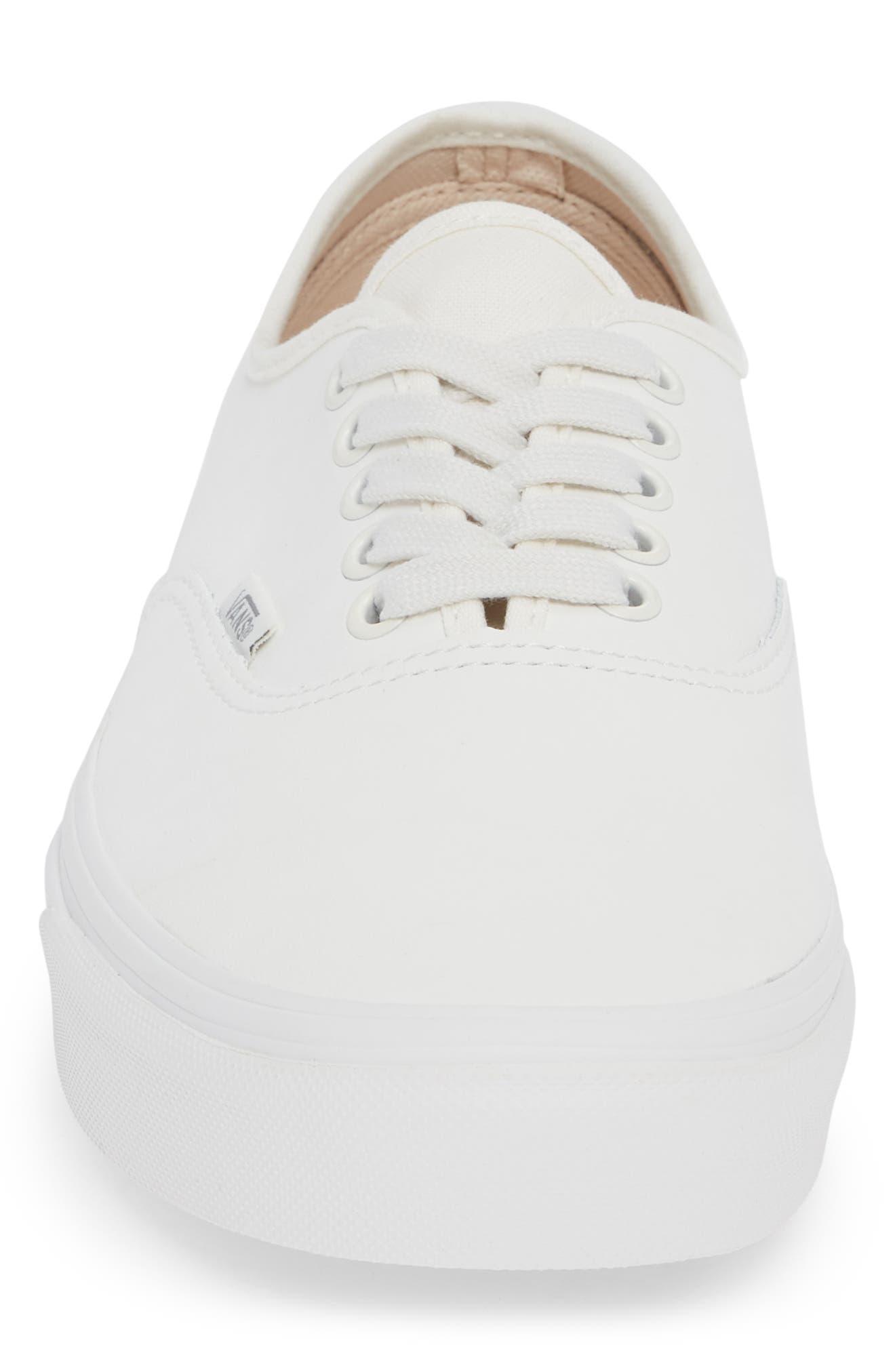 Authentic Buck Sneaker,                             Alternate thumbnail 4, color,                             WHITE