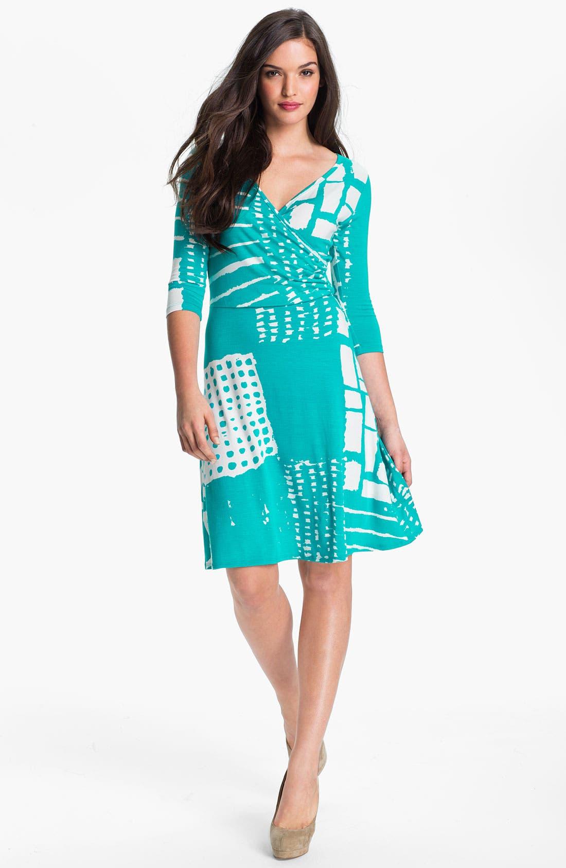Faux Wrap Dress,                             Main thumbnail 1, color,                             400