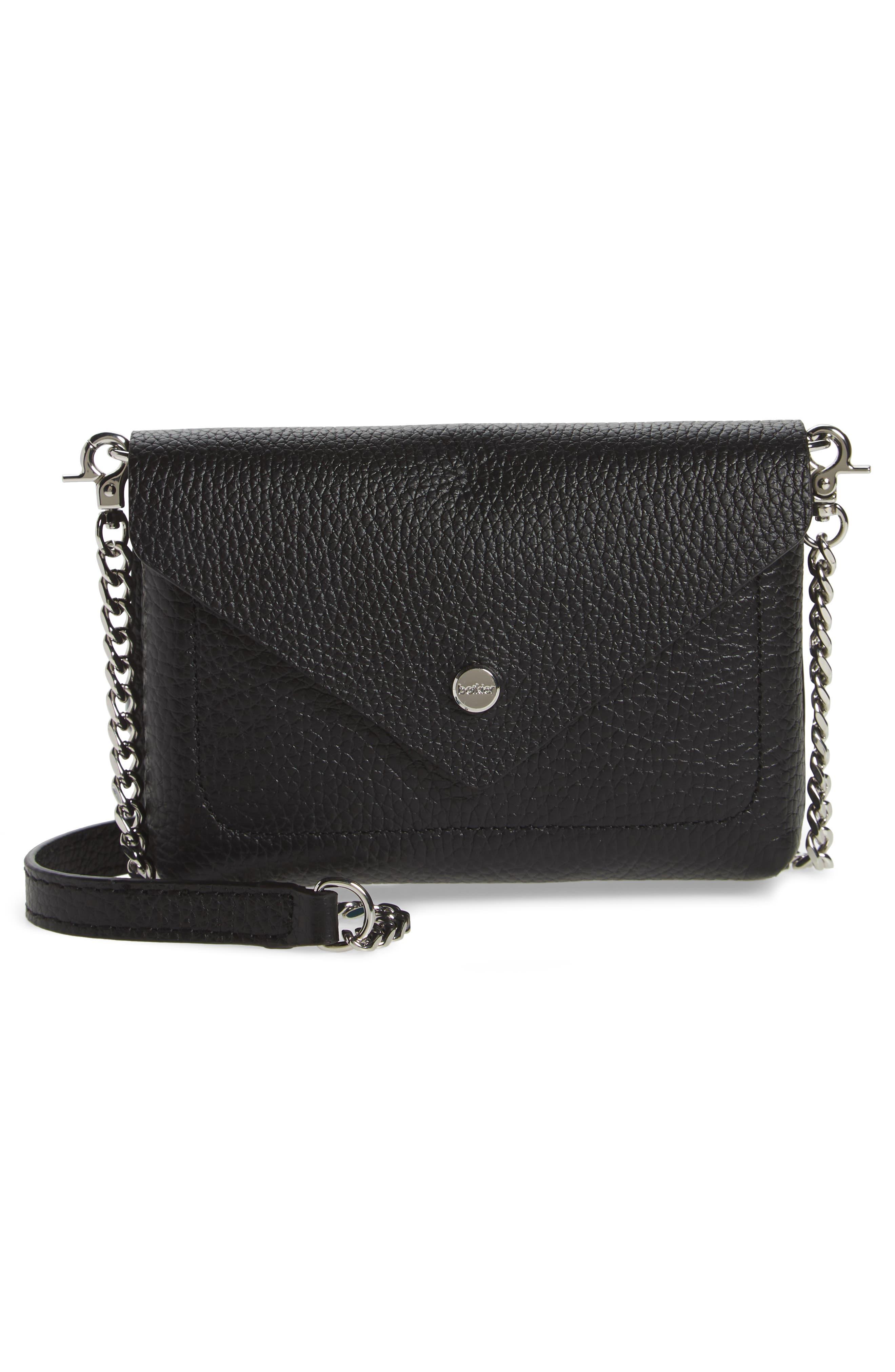 Vivi Calfskin Leather Convertible Belt Bag,                             Alternate thumbnail 4, color,                             BLACK