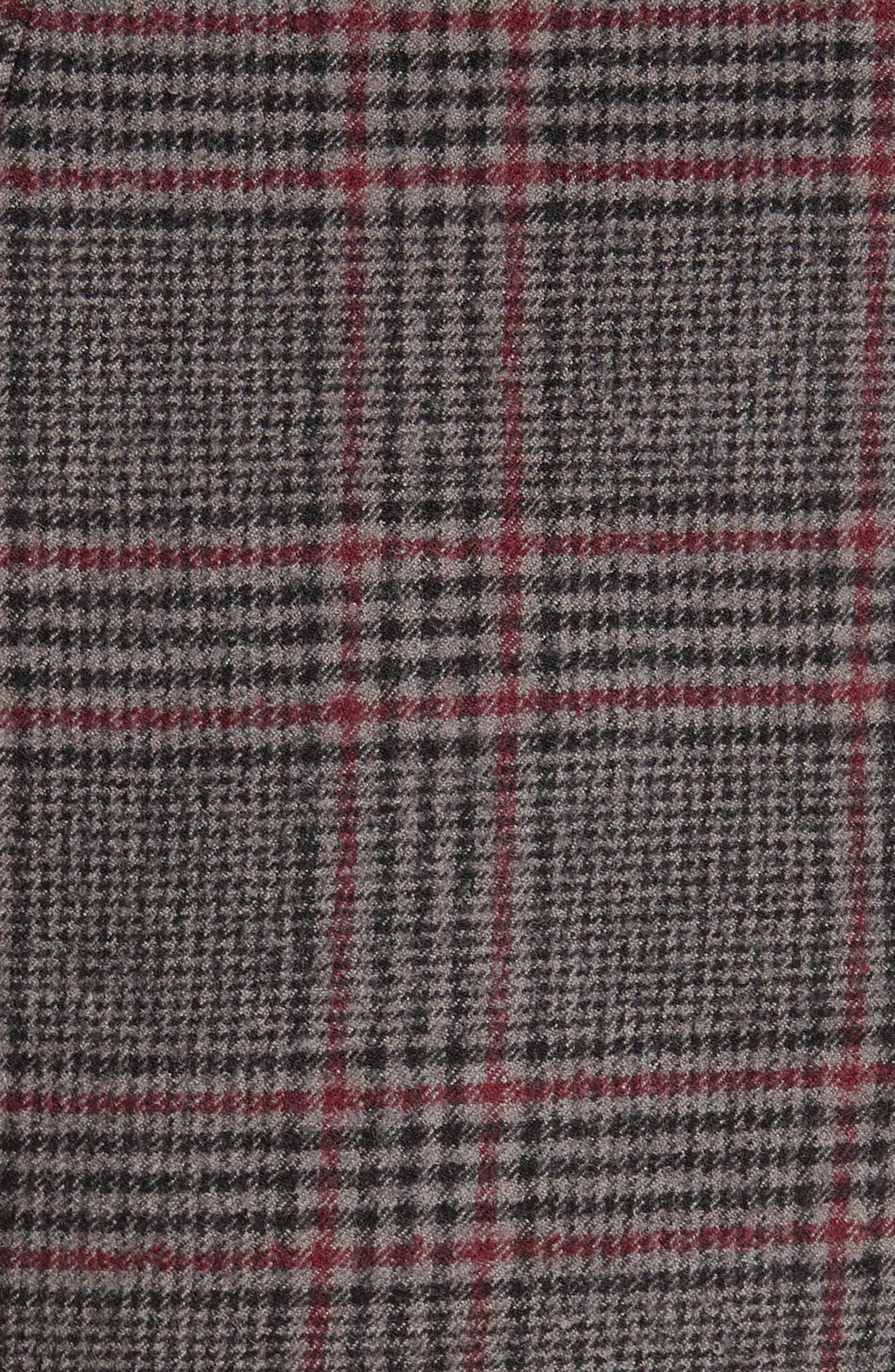 MICHAEL KORS,                             Plaid Stretch Wool Flannel Pants,                             Alternate thumbnail 5, color,                             034