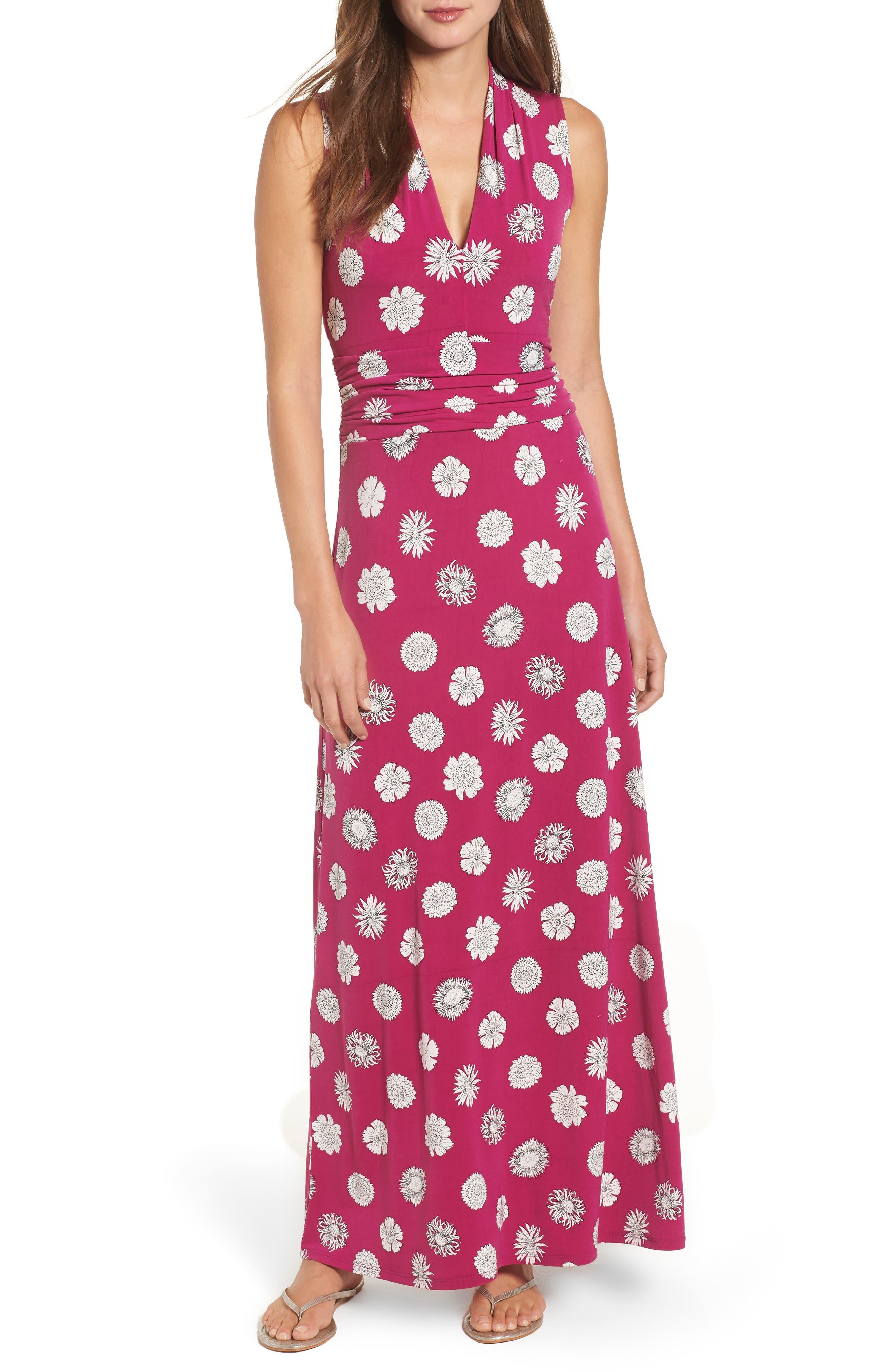 Botanical Tropics Halter Maxi Dress,                             Main thumbnail 2, color,