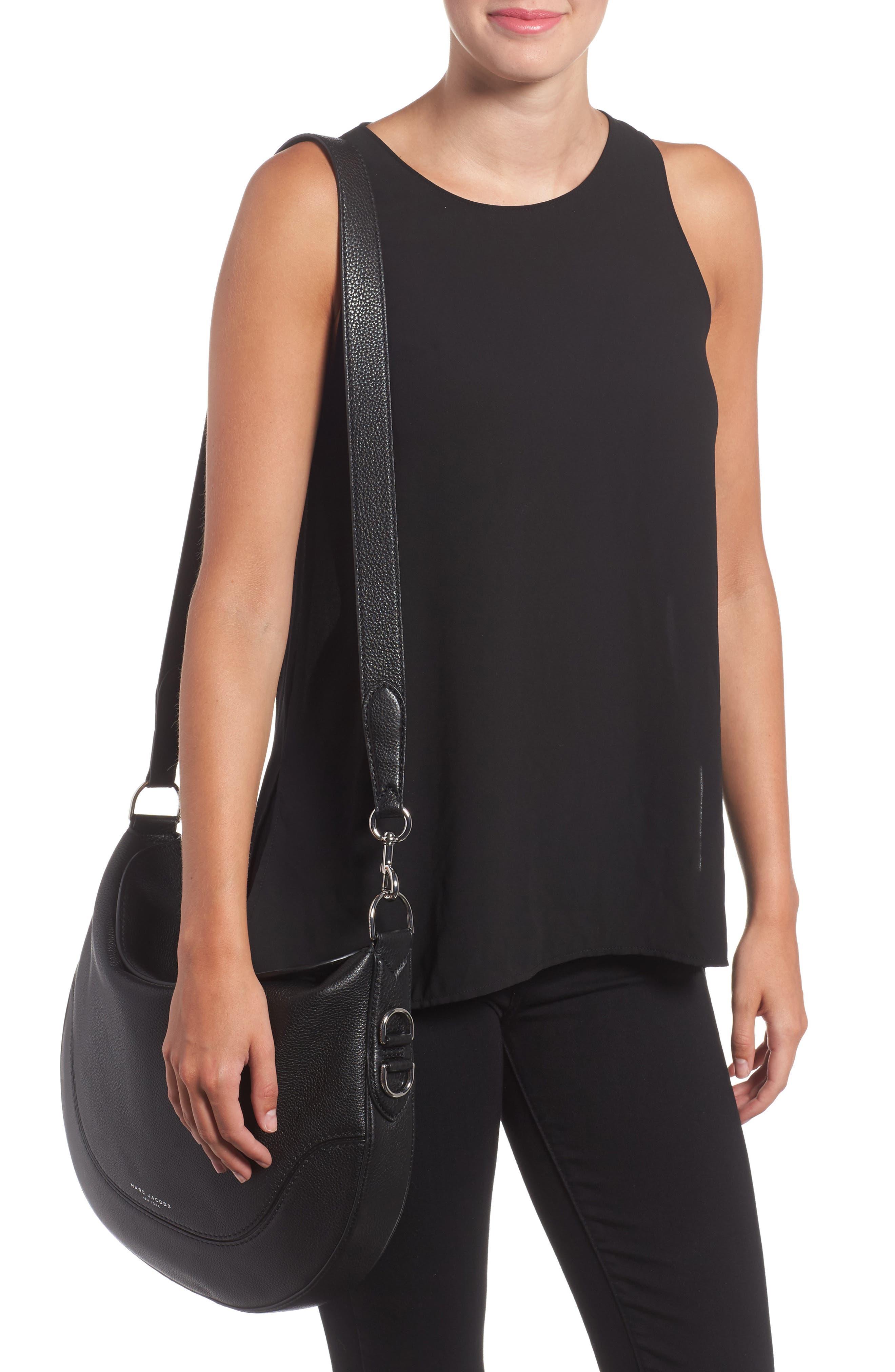Leather Shoulder Bag,                             Alternate thumbnail 2, color,                             001