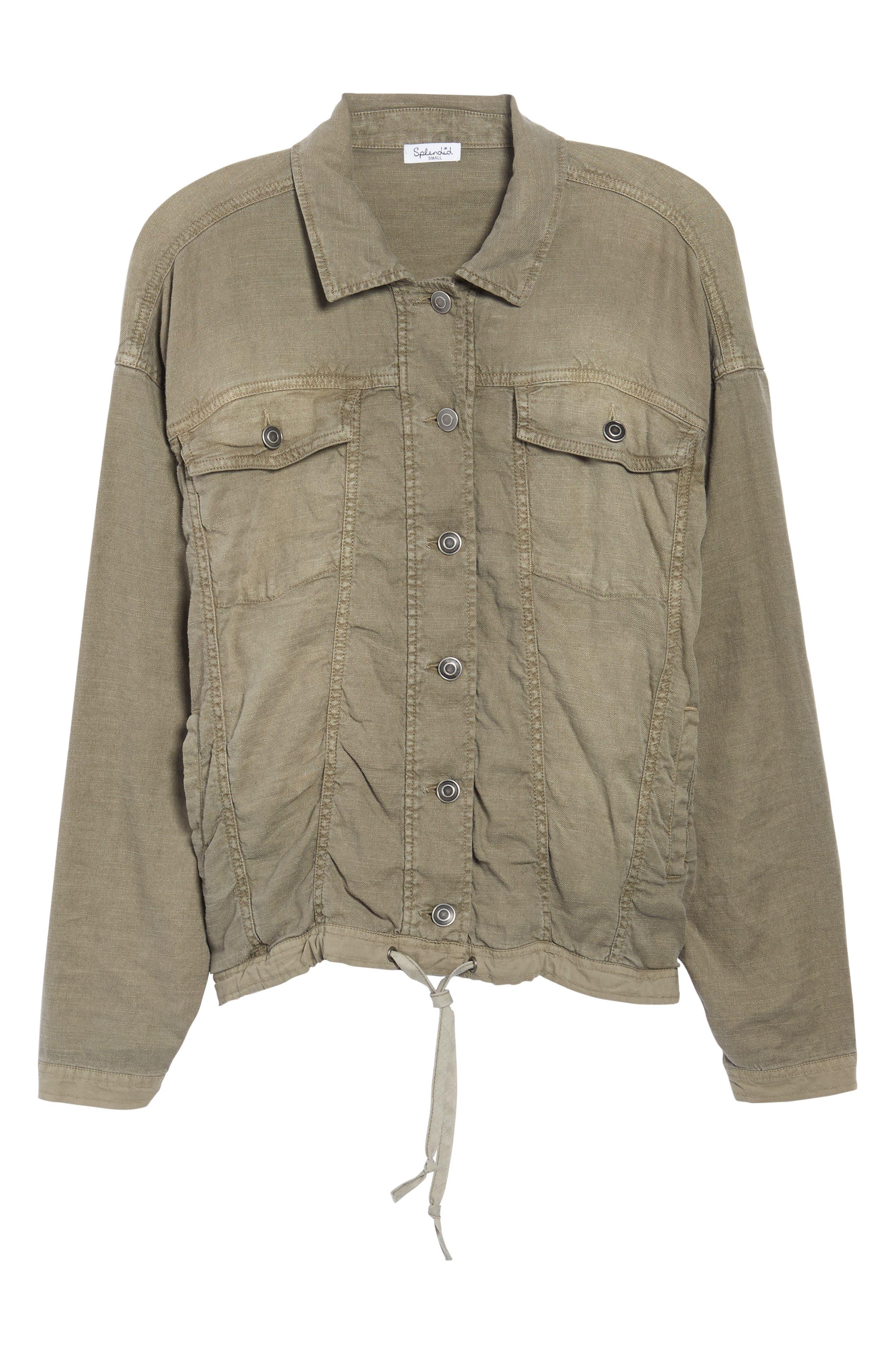 Linen Blend Drape Jacket,                             Alternate thumbnail 9, color,