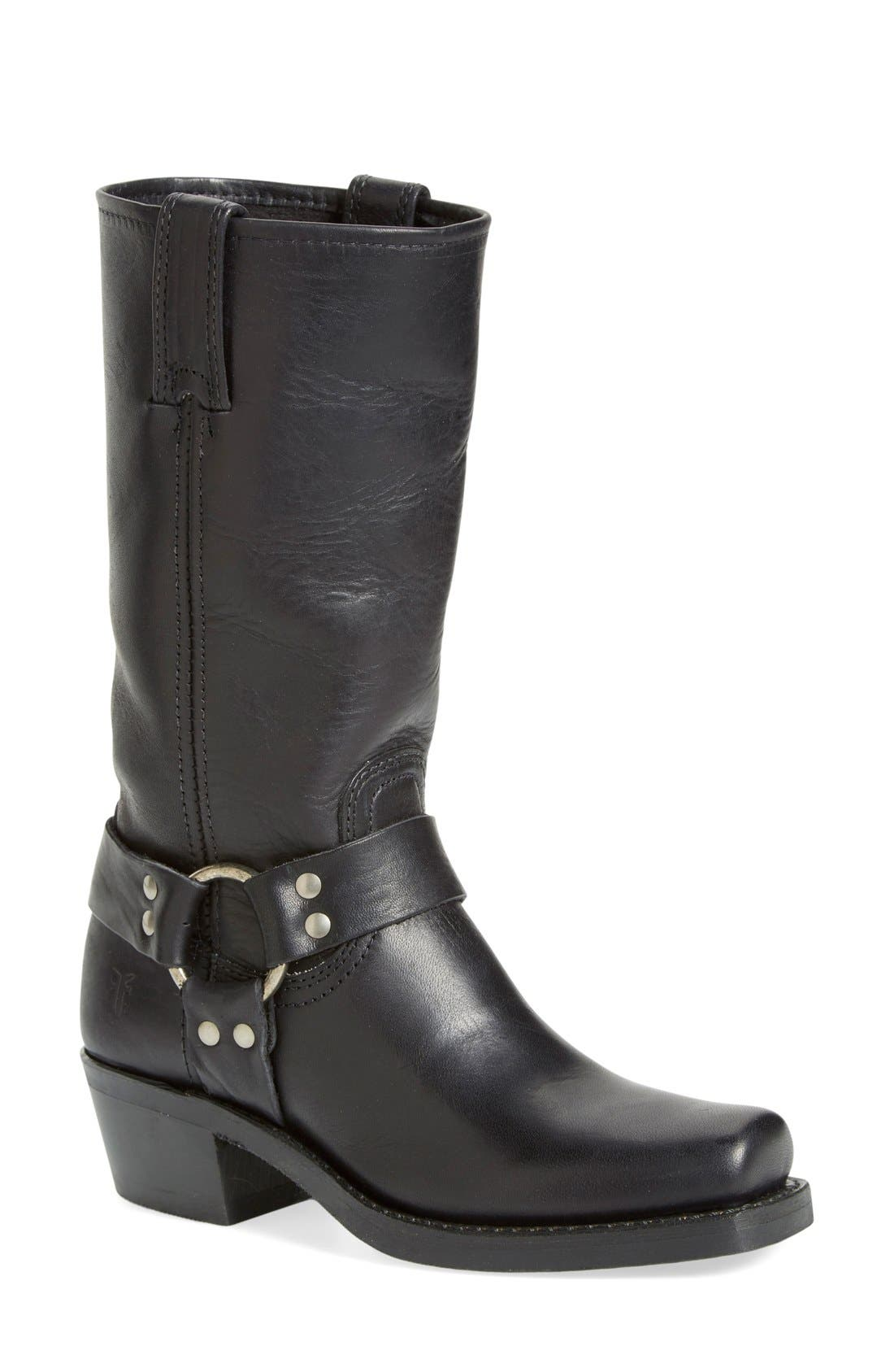 'Harness 12R' Boot,                         Main,                         color, BLACK LEATHER