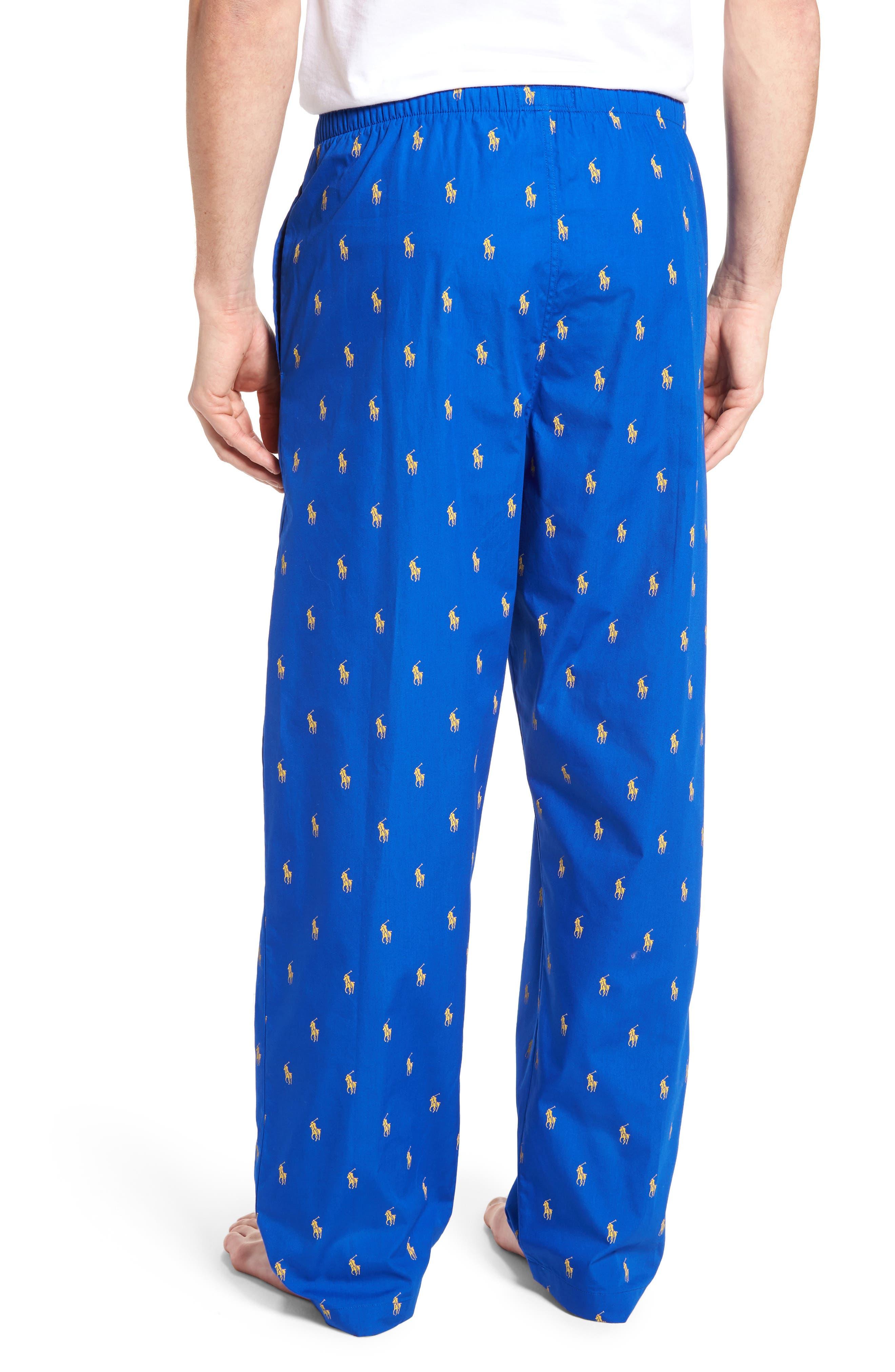 Polo Ralph Lauren Cotton Lounge Pants,                             Alternate thumbnail 8, color,