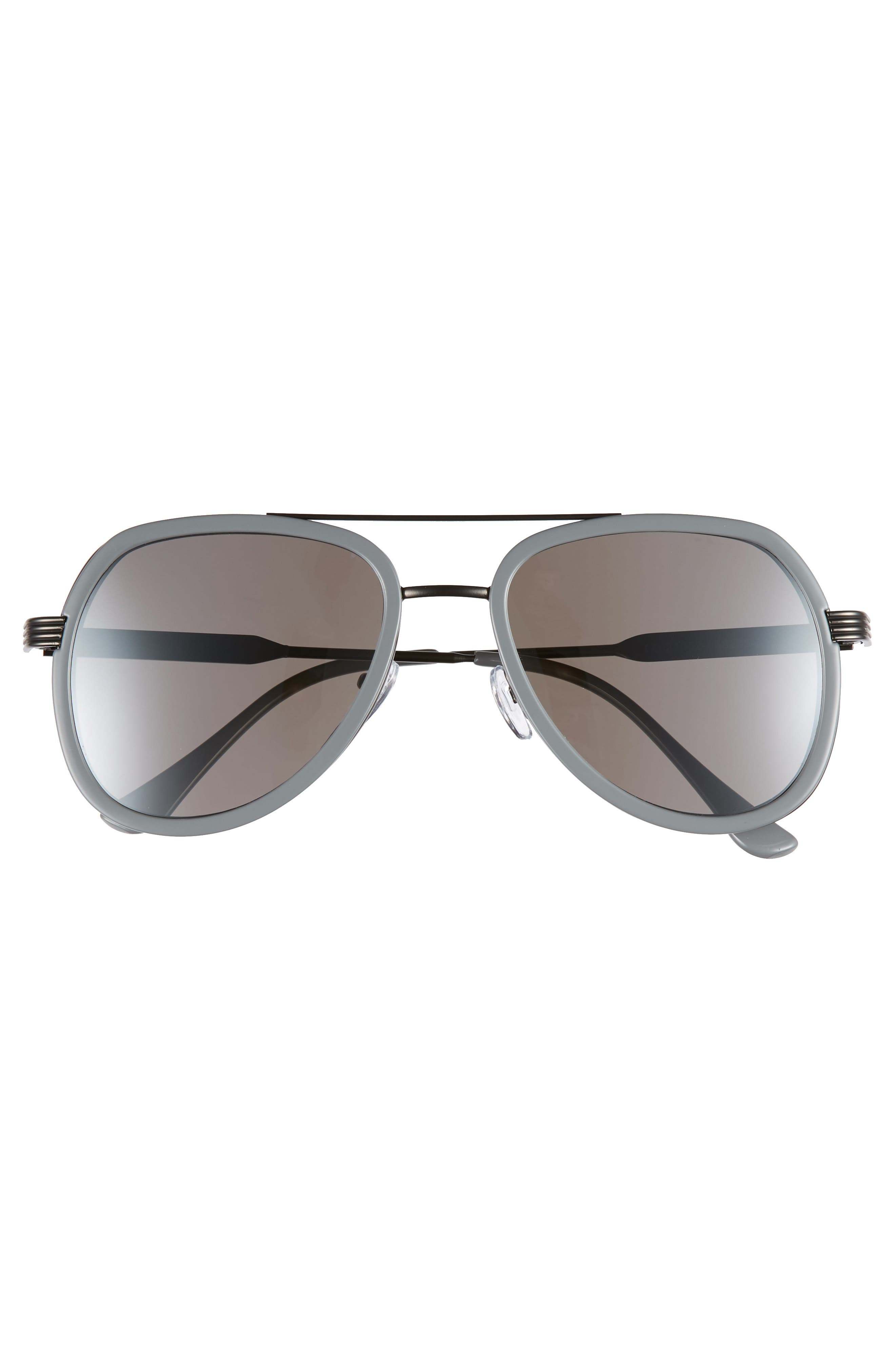 50mm Aviator Sunglasses,                             Alternate thumbnail 3, color,                             GREY