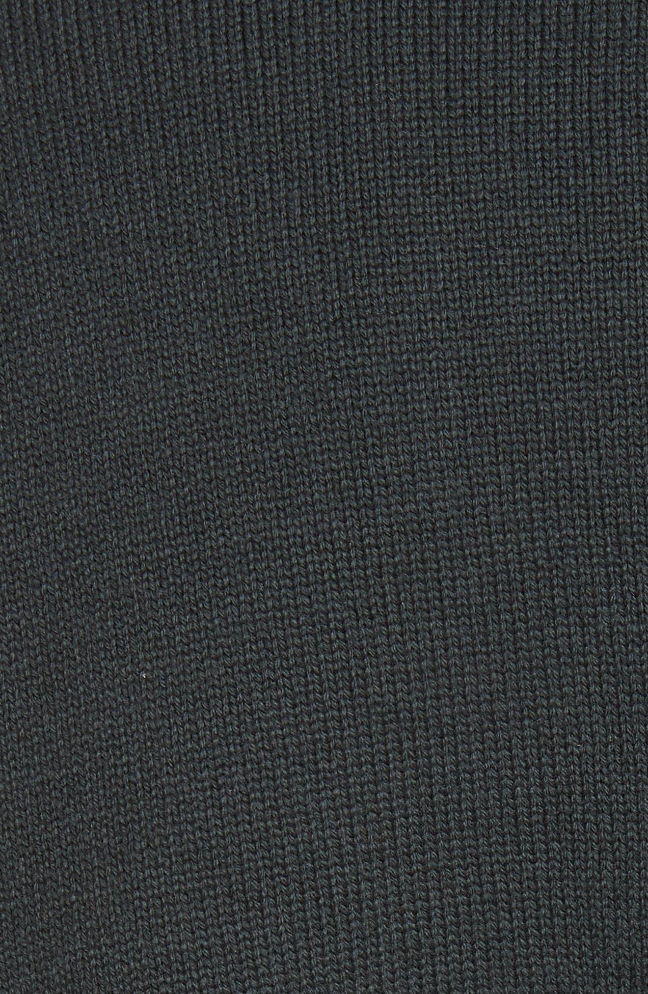 Ruffled Mock Neck Sweater,                             Alternate thumbnail 5, color,                             200