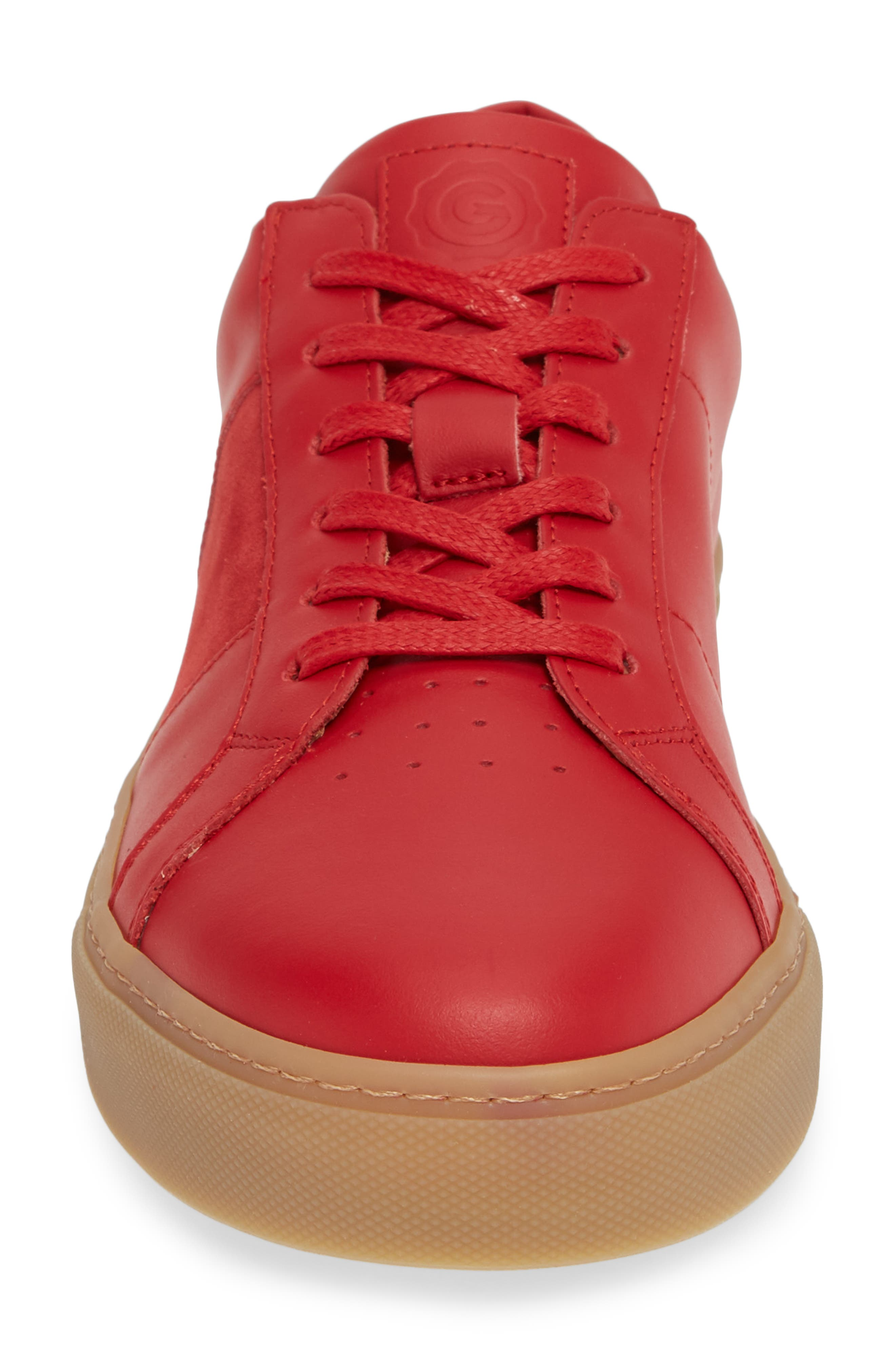 Royale Sneaker,                             Alternate thumbnail 4, color,                             RED/ GUM LEATHER