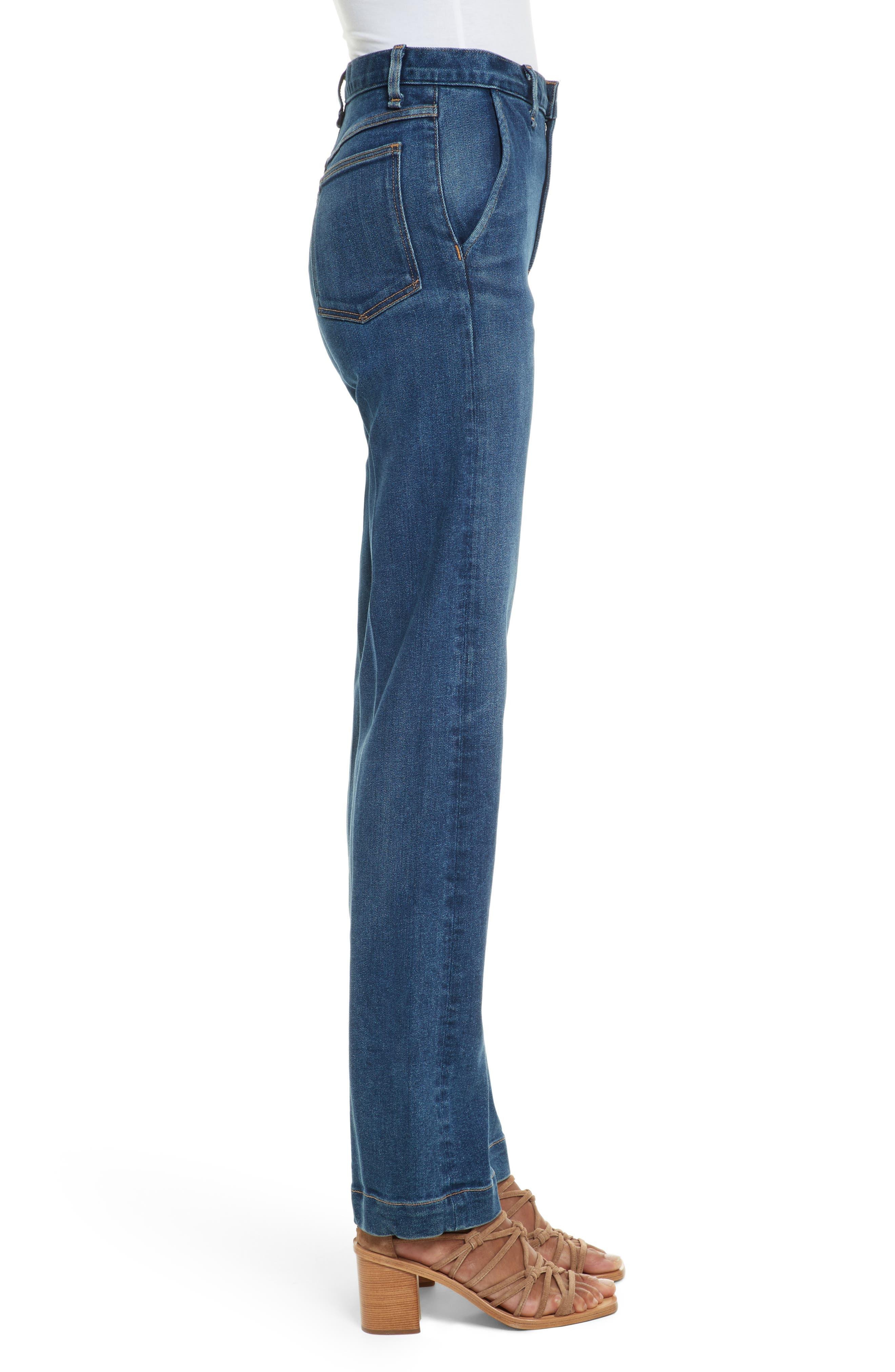 Justine High Waist Trouser Jeans,                             Alternate thumbnail 3, color,                             462