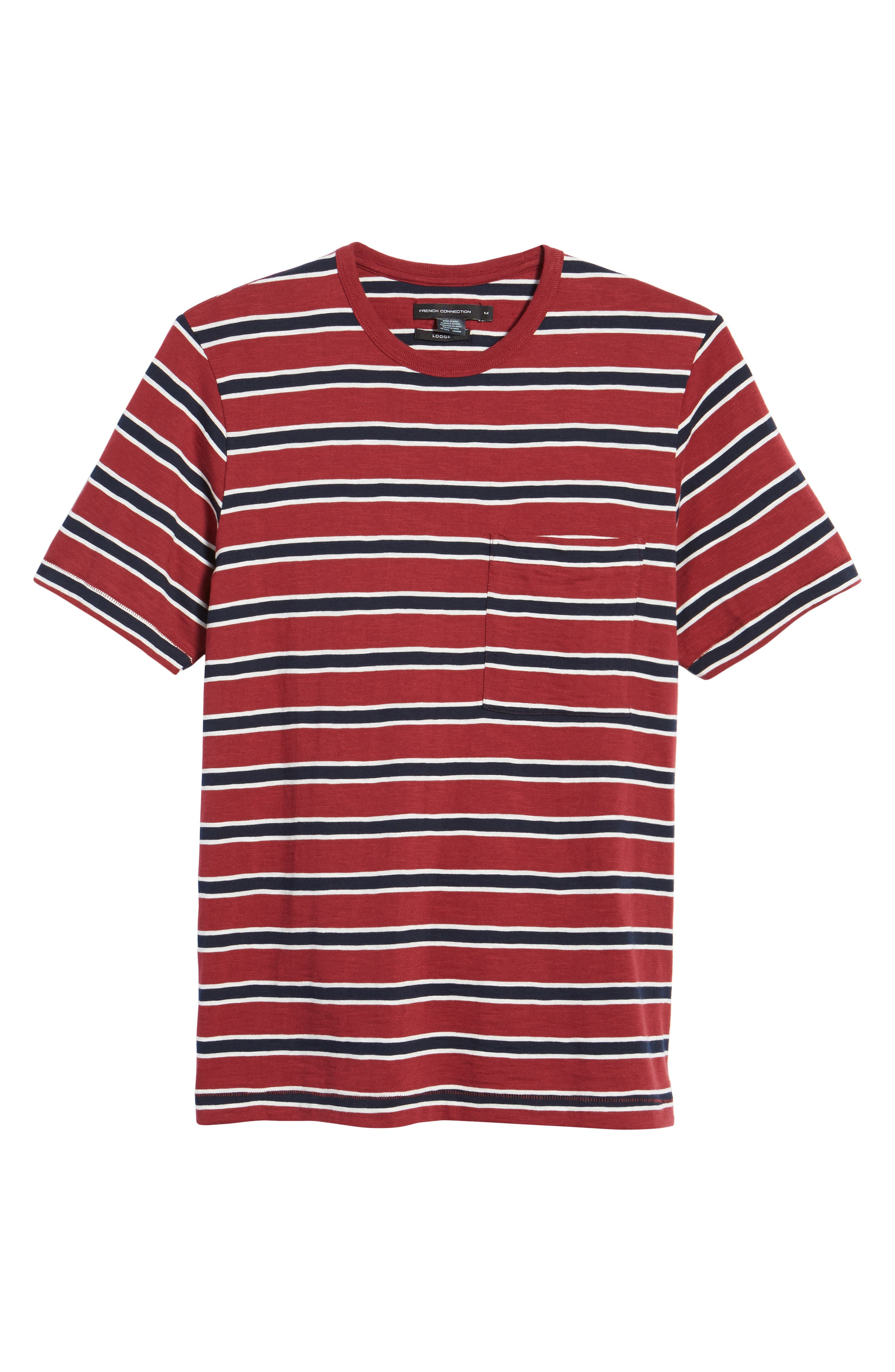 Old School Slim Fit Stripe T-Shirt,                             Alternate thumbnail 6, color,                             603