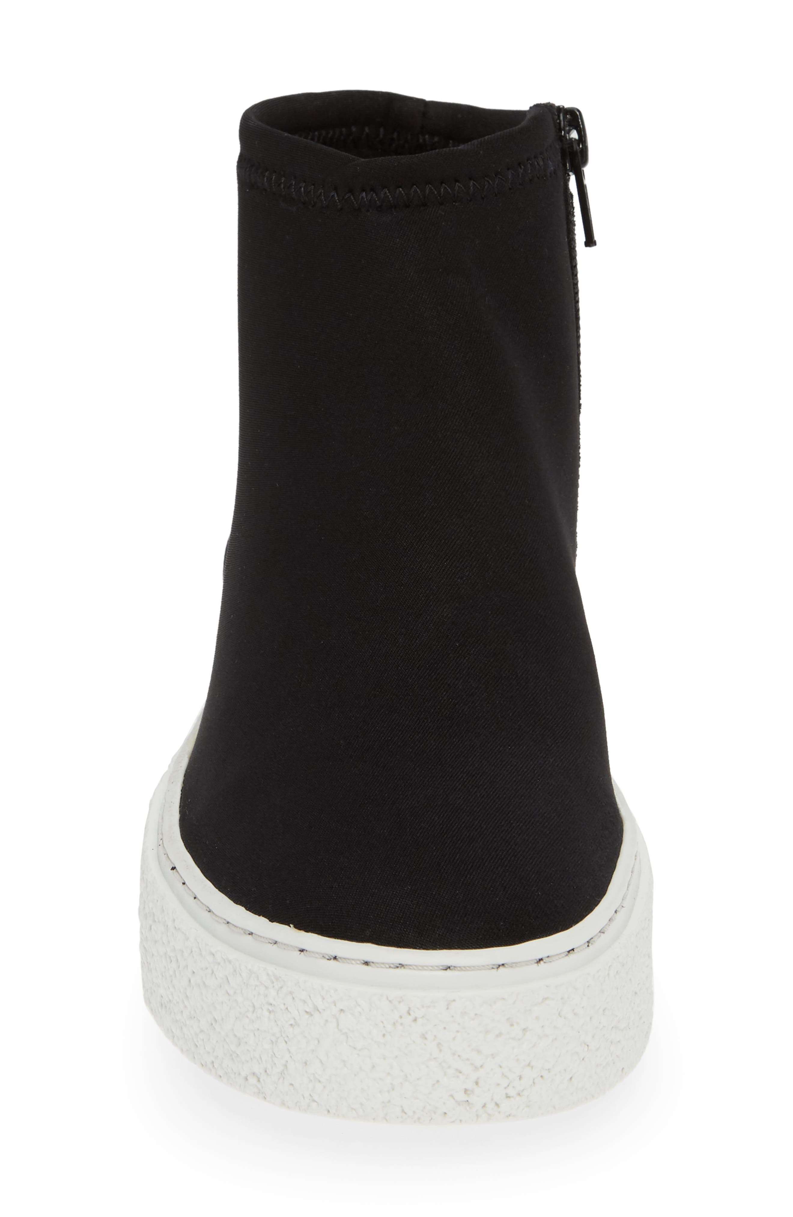 Inventive High Top Sneaker,                             Alternate thumbnail 4, color,                             BLACK NEOPRENE FABRIC