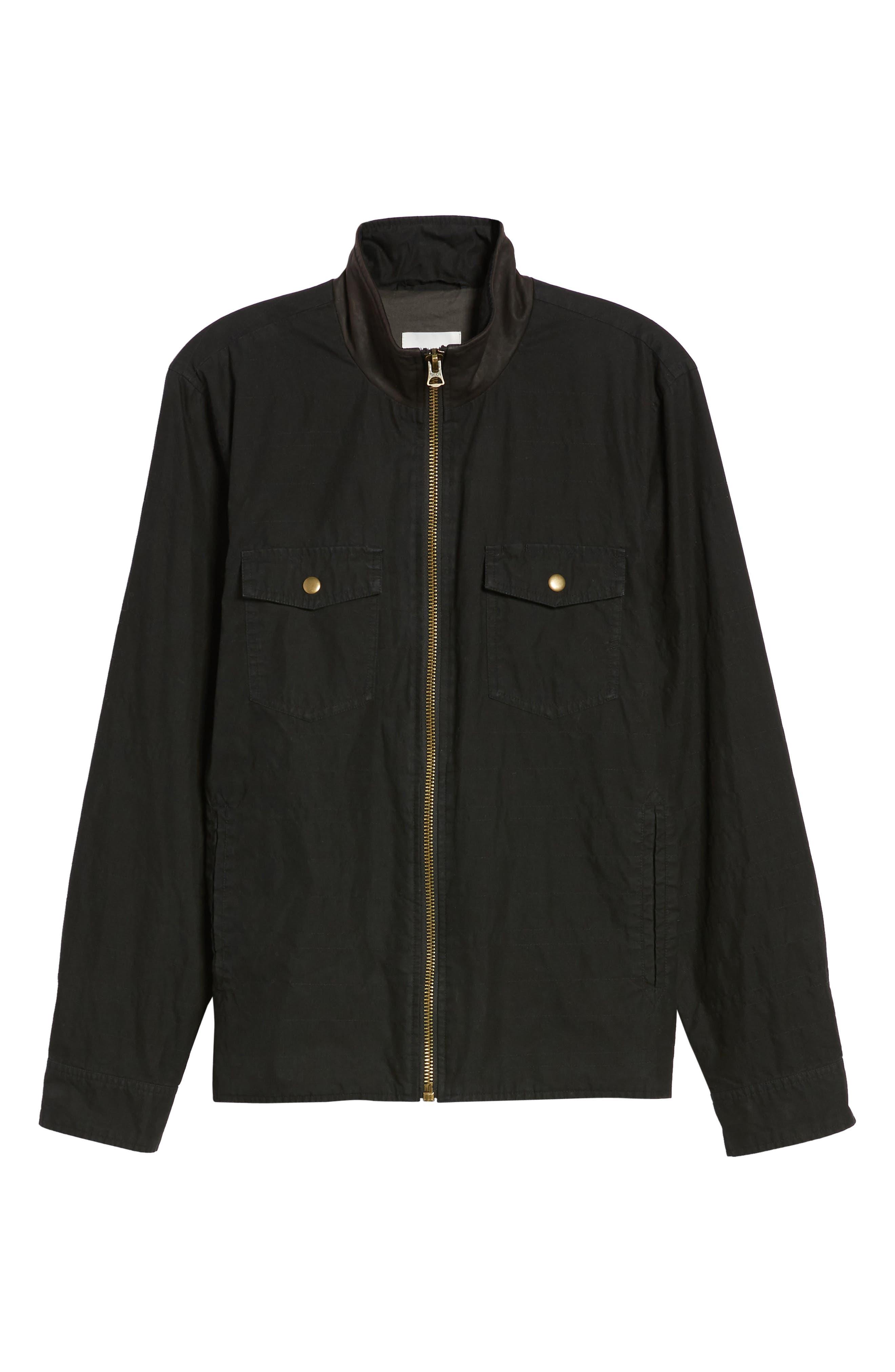 Standard Fit Shirt Jacket,                             Alternate thumbnail 5, color,                             001
