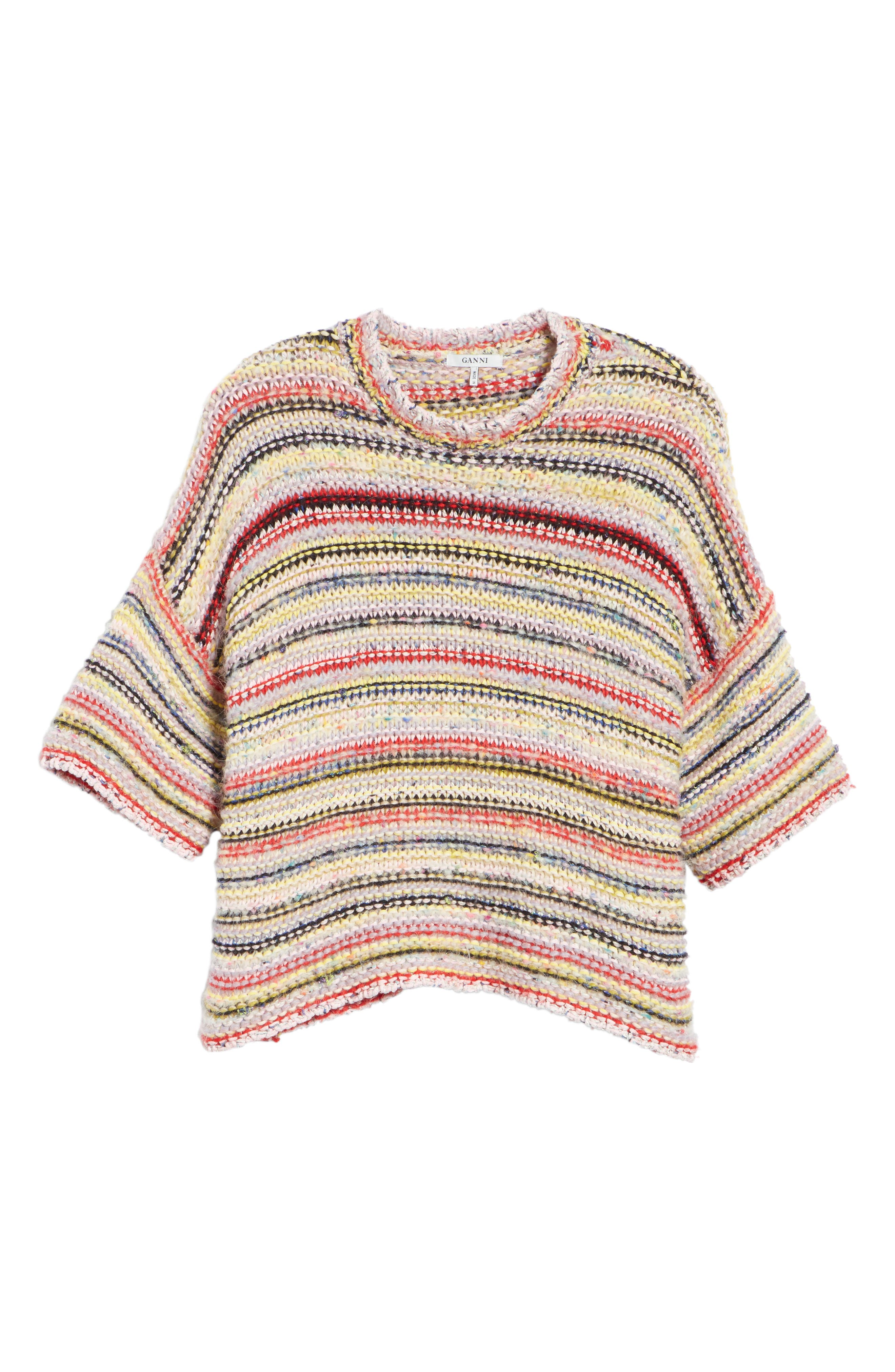 Mixed Knit Sweater,                             Alternate thumbnail 6, color,                             MULTICOLOUR 999
