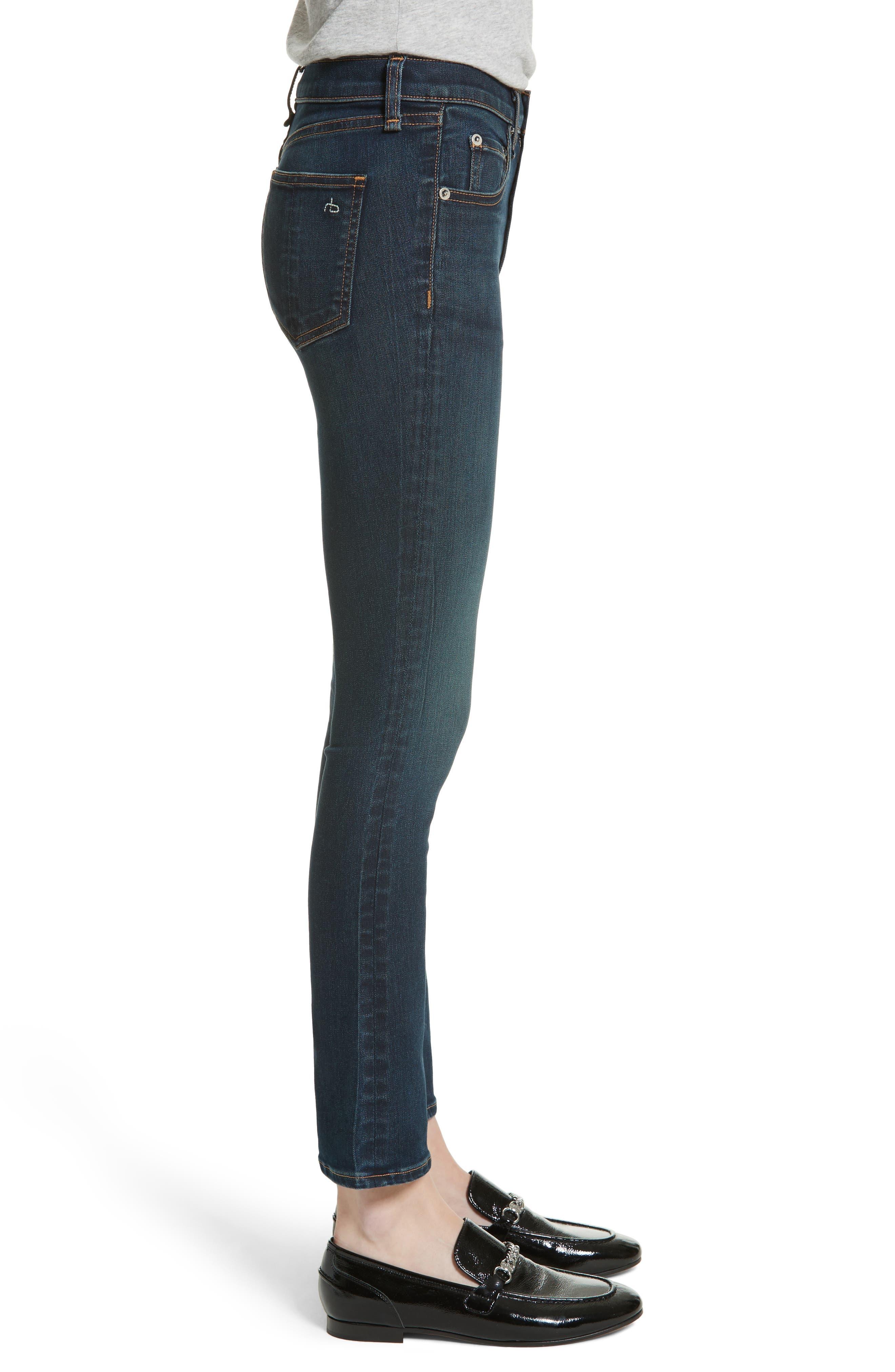 Hana High Waist Crop Flare Jeans,                             Alternate thumbnail 3, color,                             421