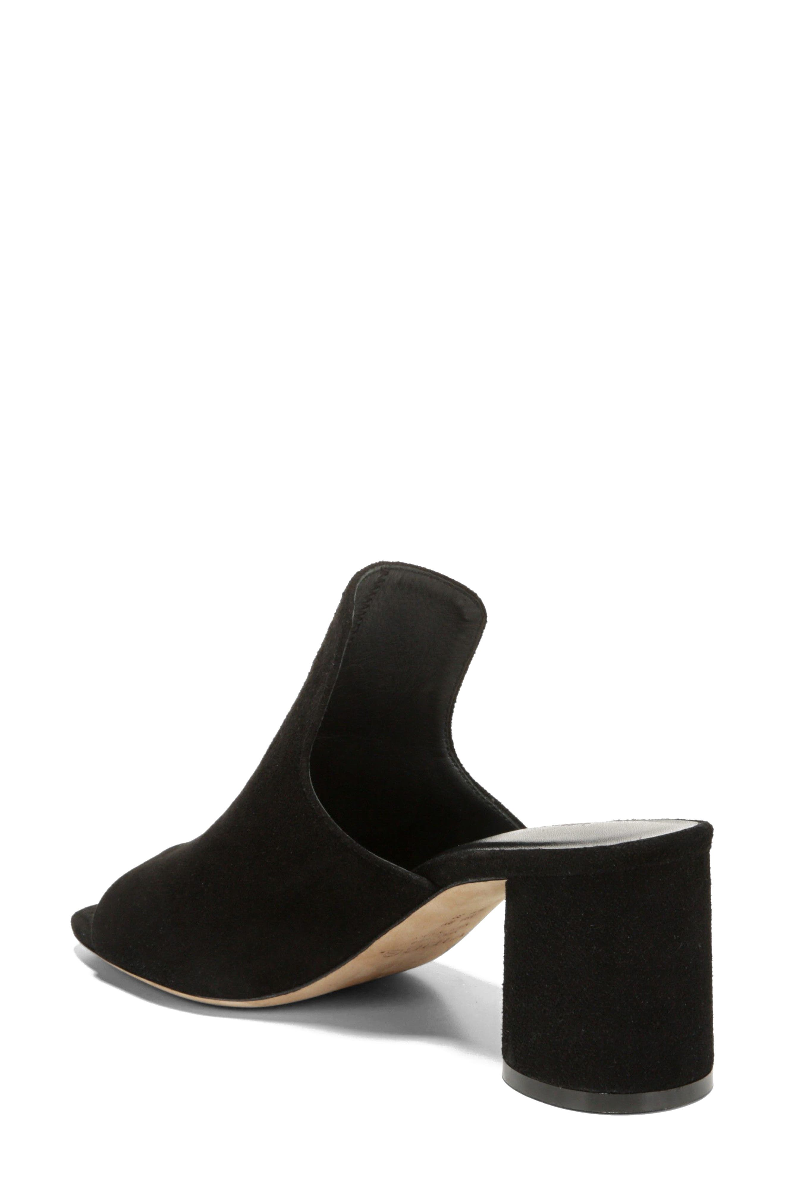 Tanay Loafer Mule,                             Alternate thumbnail 2, color,                             BLACK SUEDE LEATHER