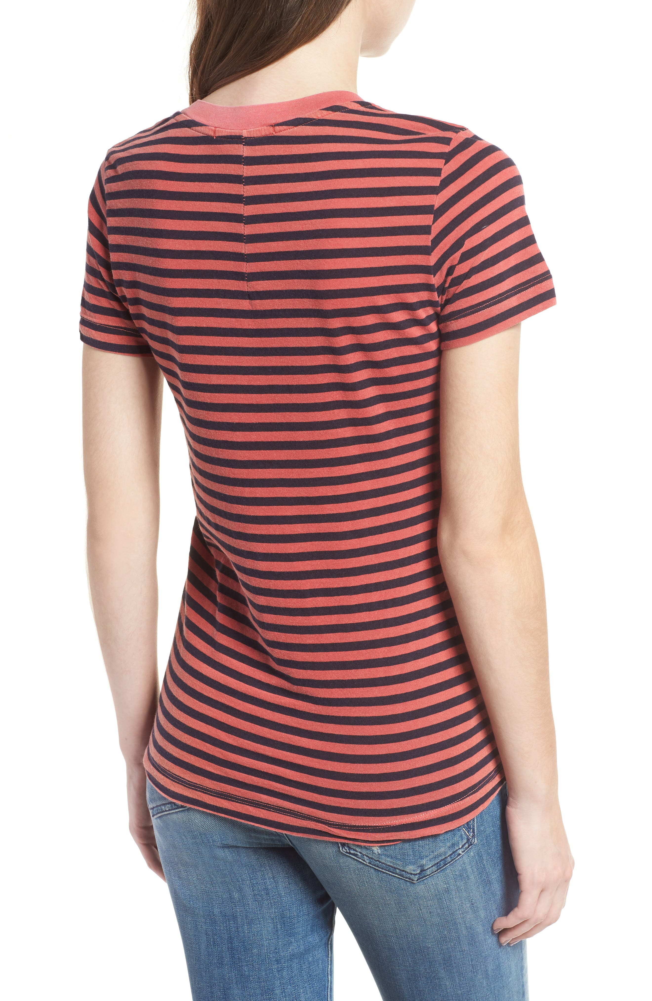 Stripe Cotton Boy Tee,                             Alternate thumbnail 2, color,                             615
