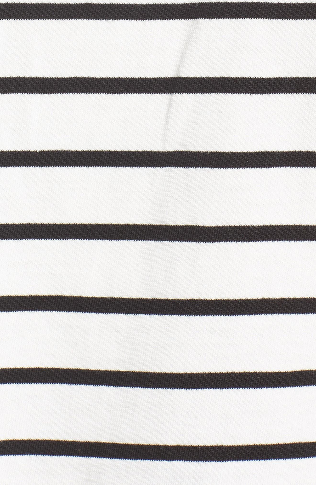 Stripe Easy Crop Tee,                             Alternate thumbnail 6, color,                             100